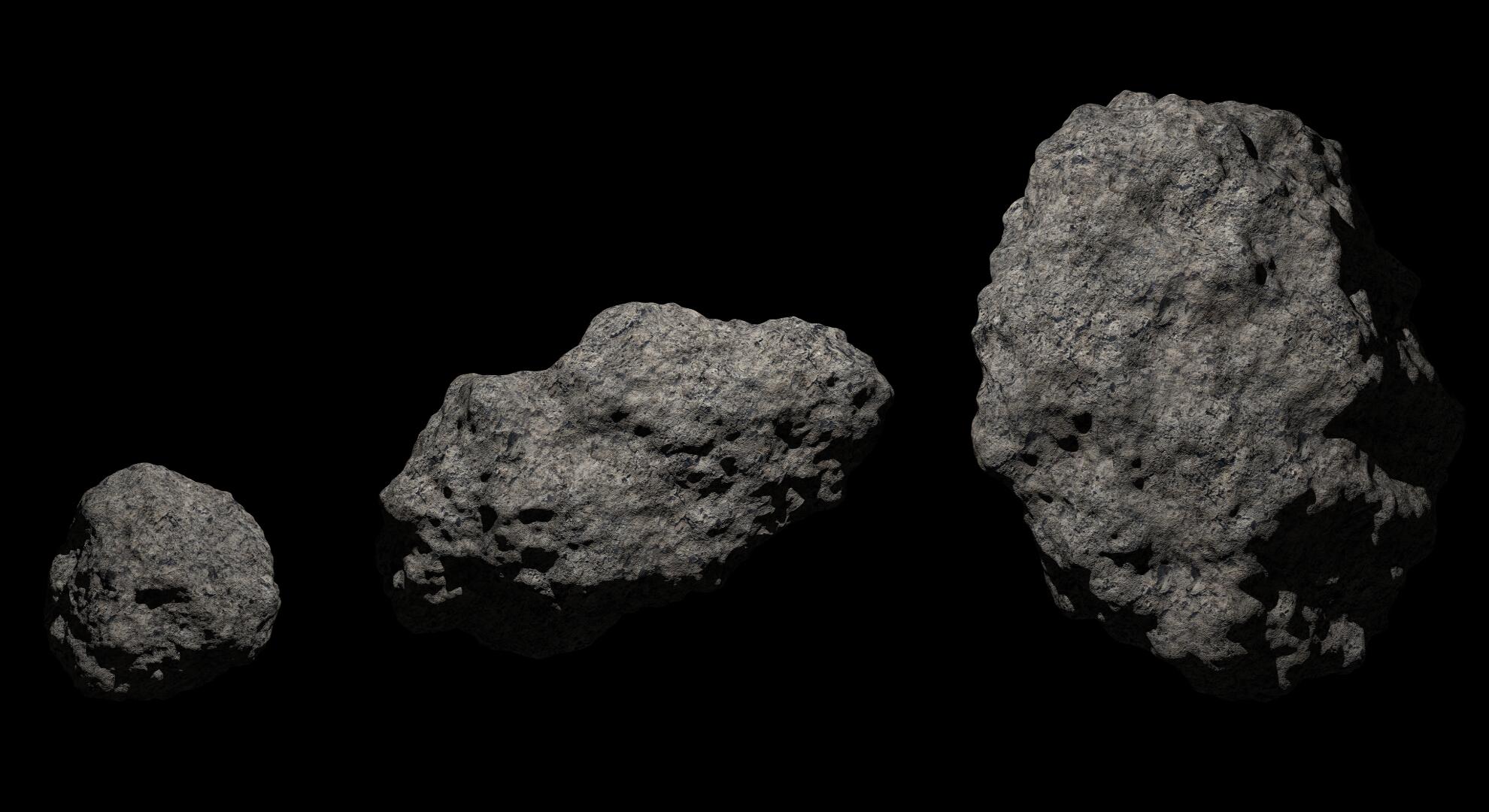 fantasy asteroid 2 3d model 3ds blend dae fbx obj 267195