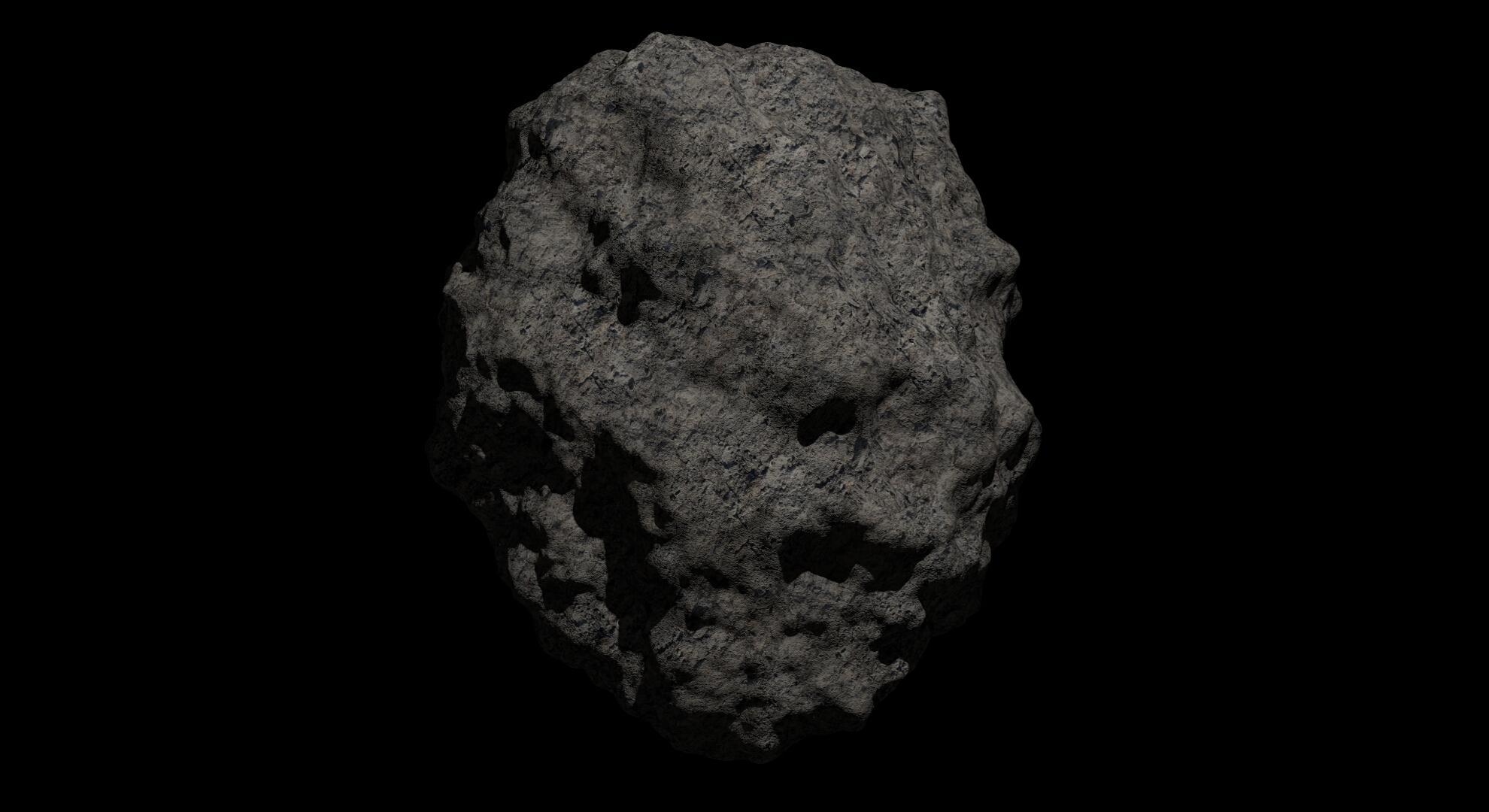 fantasy asteroid 2 3d model 3ds blend dae fbx obj 267196