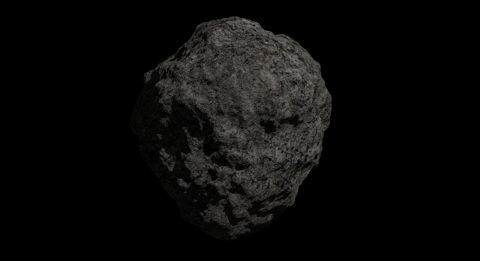 fantasy asteroid 2 3d model 3ds blend dae fbx obj 267198