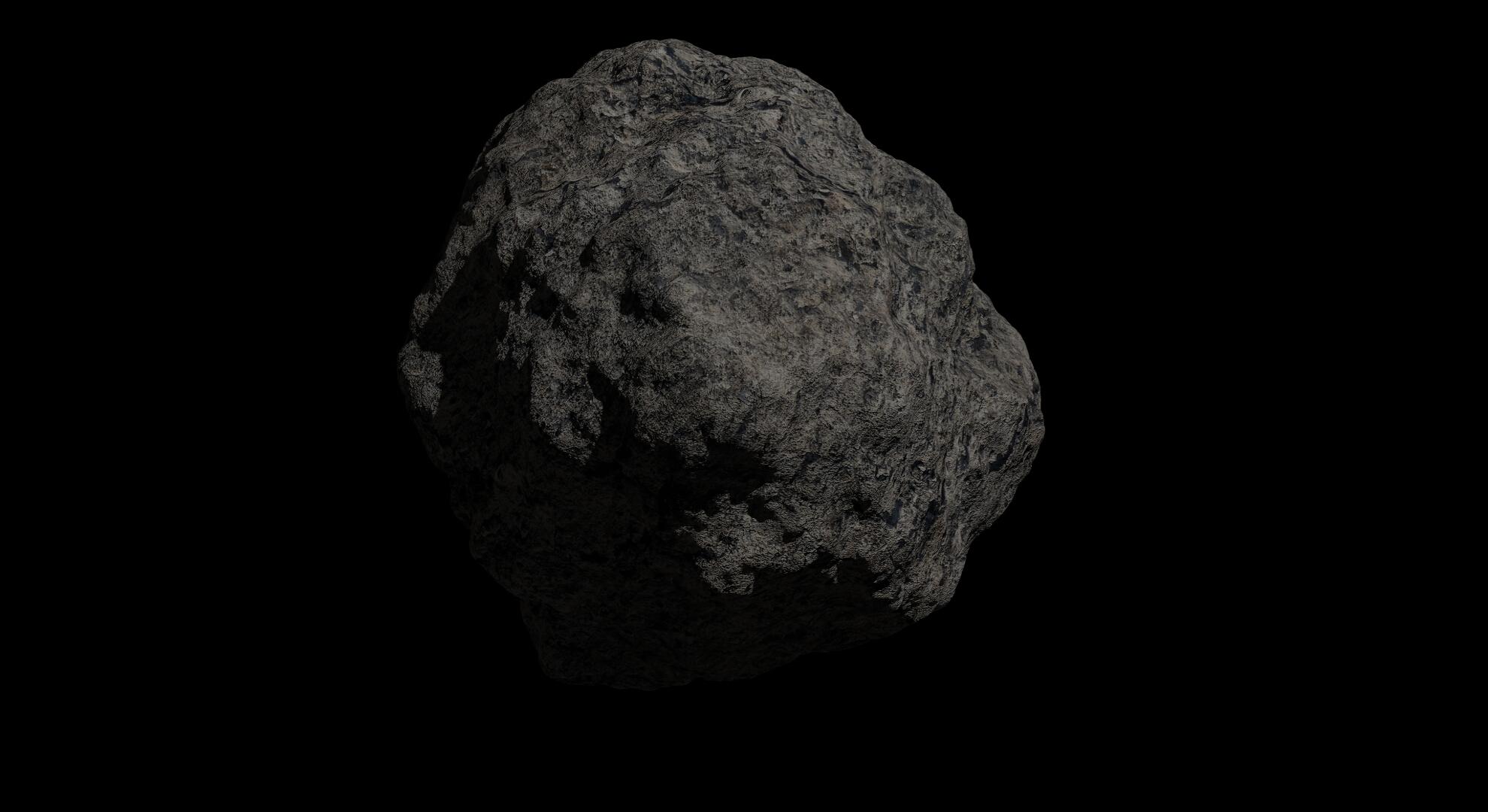 fantasy asteroid 2 3d model 3ds blend dae fbx obj 267199