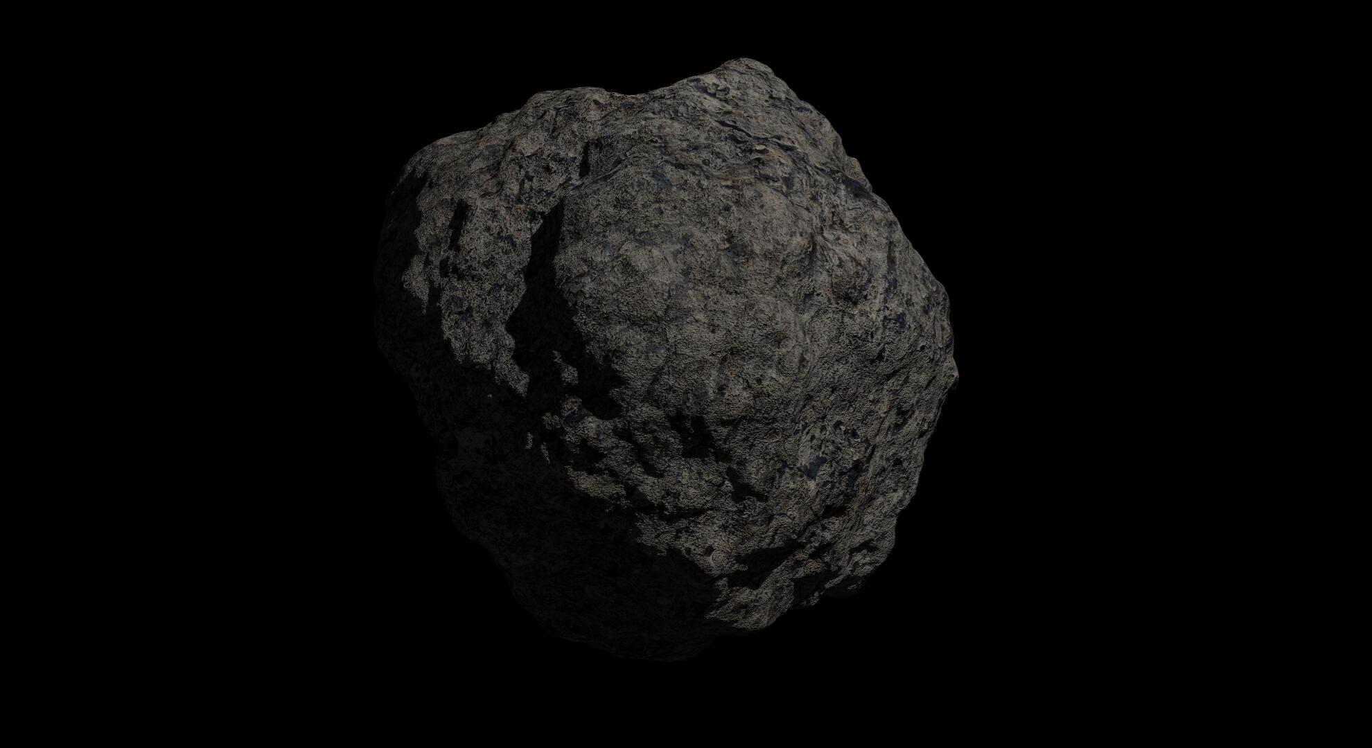 fantasy asteroid 2 3d model 3ds blend dae fbx obj 267201