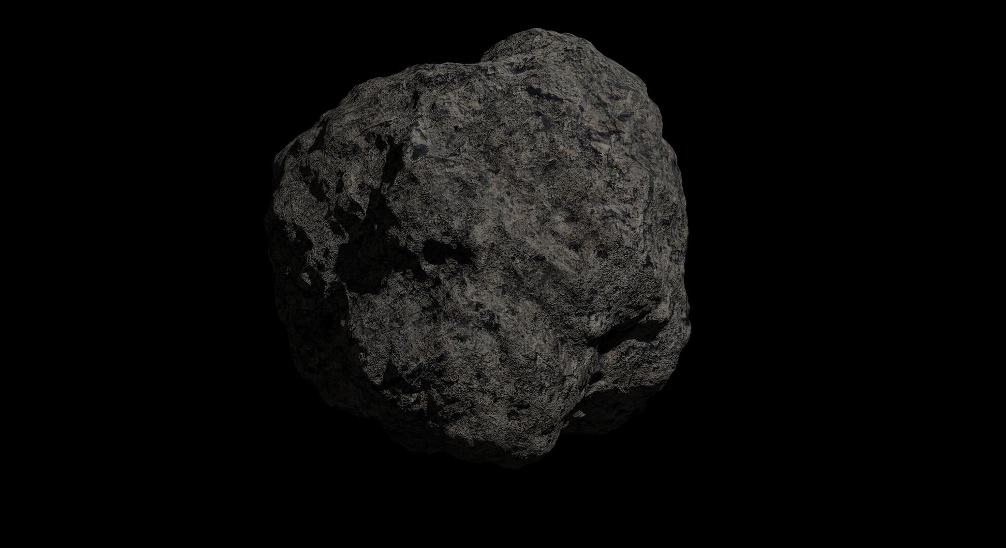 fantasy asteroid 2 3d model 3ds blend dae fbx obj 267202
