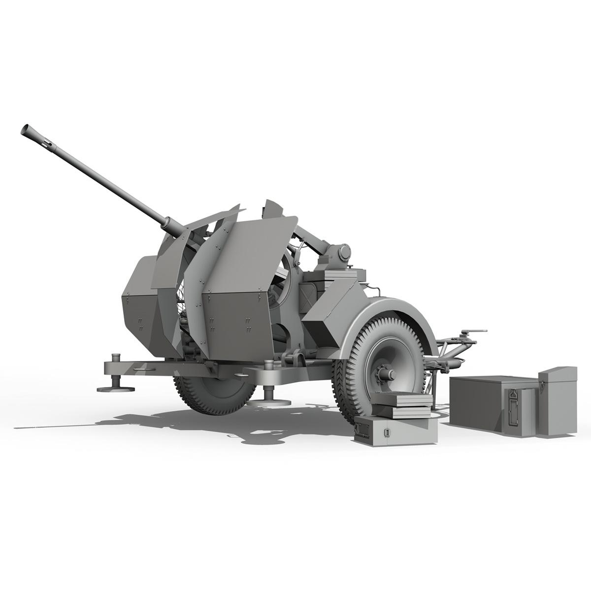 2cm flak 38 s sd.ah. 51 - prikolica 3d model 3d c4d fbx lwo lw lws obj 267211