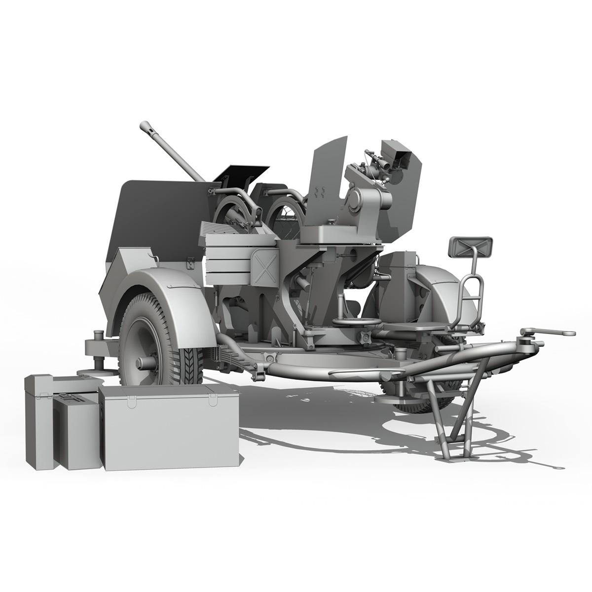 2cm flak 38 s sd.ah. 51 - prikolica 3d model 3d c4d fbx lwo lw lws obj 267212