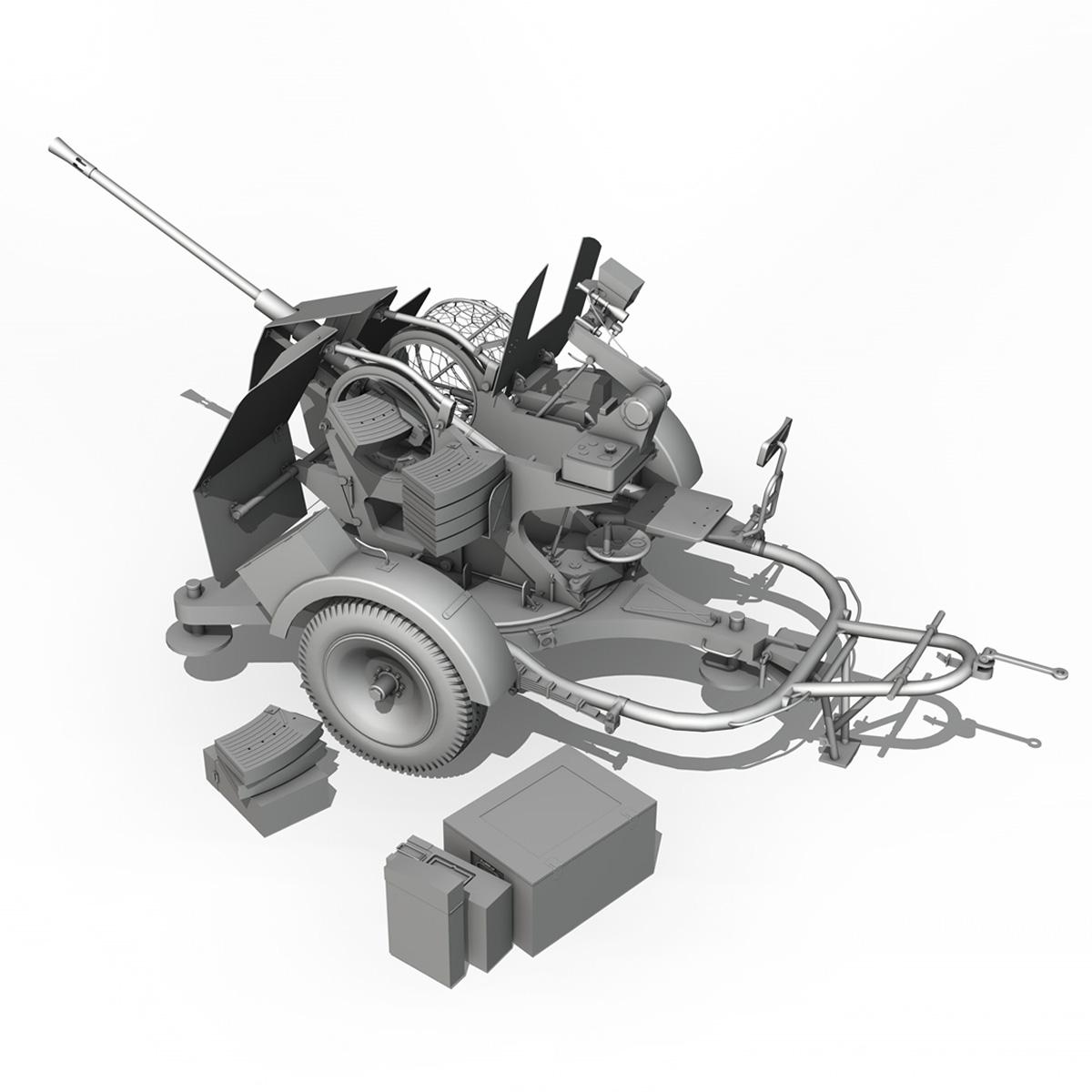 2cm flak 38 s sd.ah. 51 - prikolica 3d model 3d c4d fbx lwo lw lws obj 267213