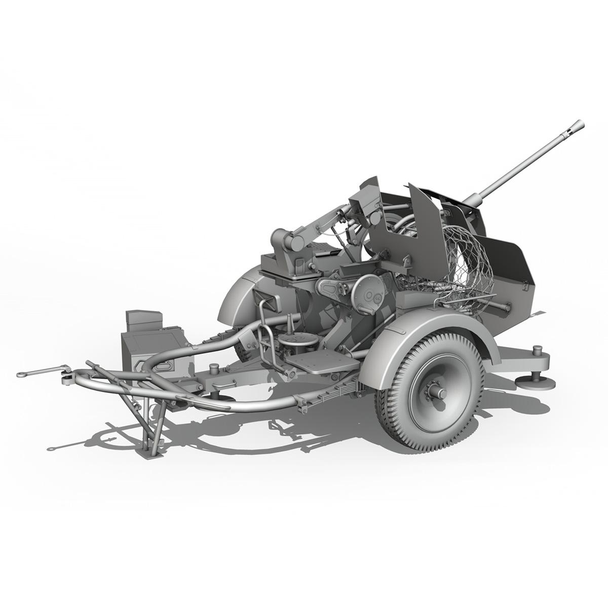 2cm flak 38 s sd.ah. 51 - prikolica 3d model 3d c4d fbx lwo lw lws obj 267214