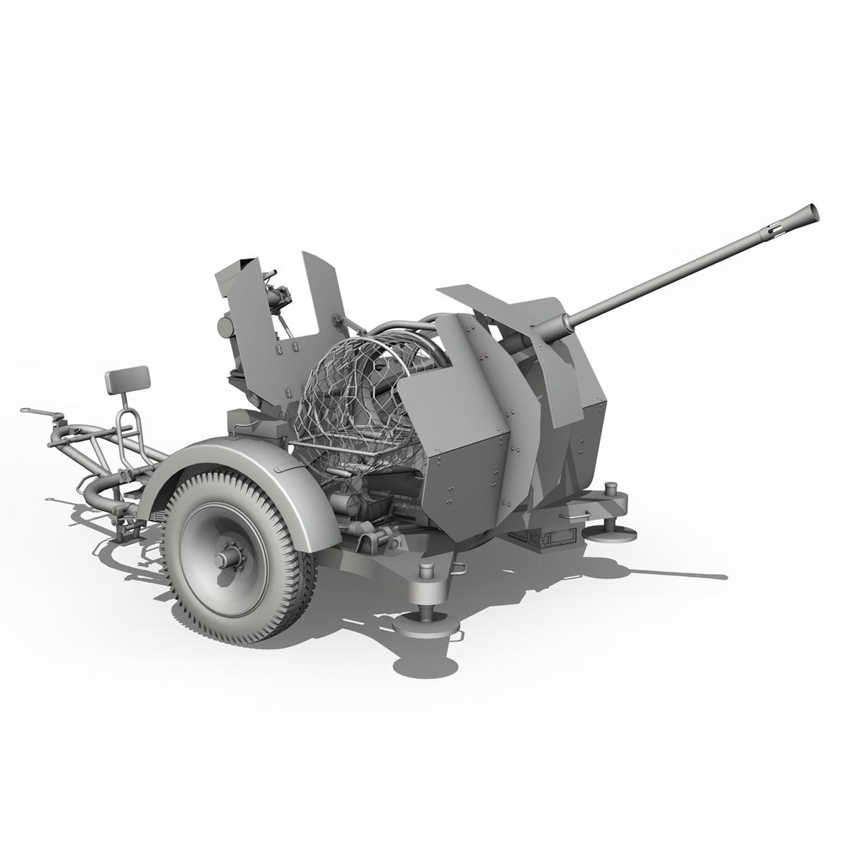 2cm flak 38 s sd.ah. 51 - prikolica 3d model 3d c4d fbx lwo lw lws obj 267215