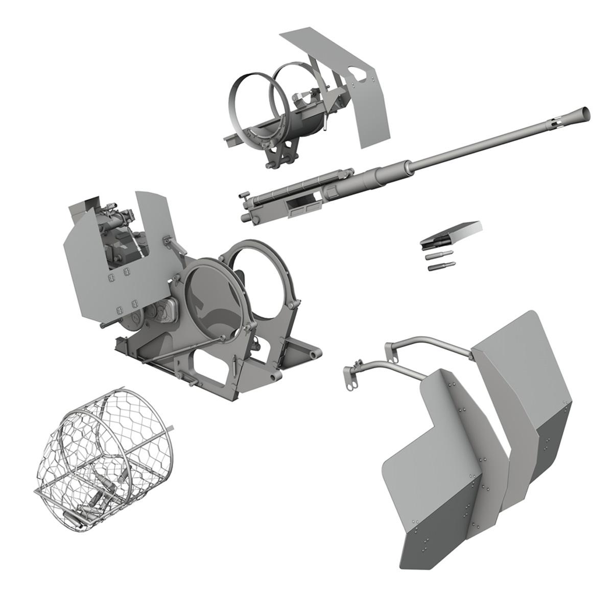 2cm flak 38 s sd.ah. 51 - prikolica 3d model 3d c4d fbx lwo lw lws obj 267219