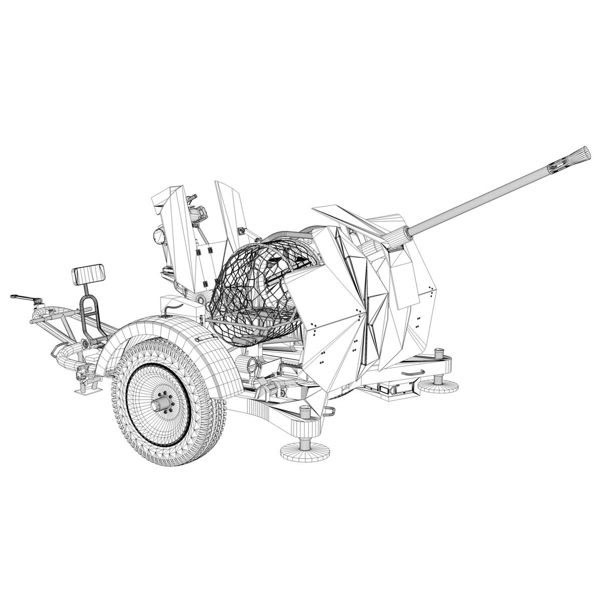 2cm flak 38 s sd.ah. 51 - prikolica 3d model 3d c4d fbx lwo lw lws obj 267221