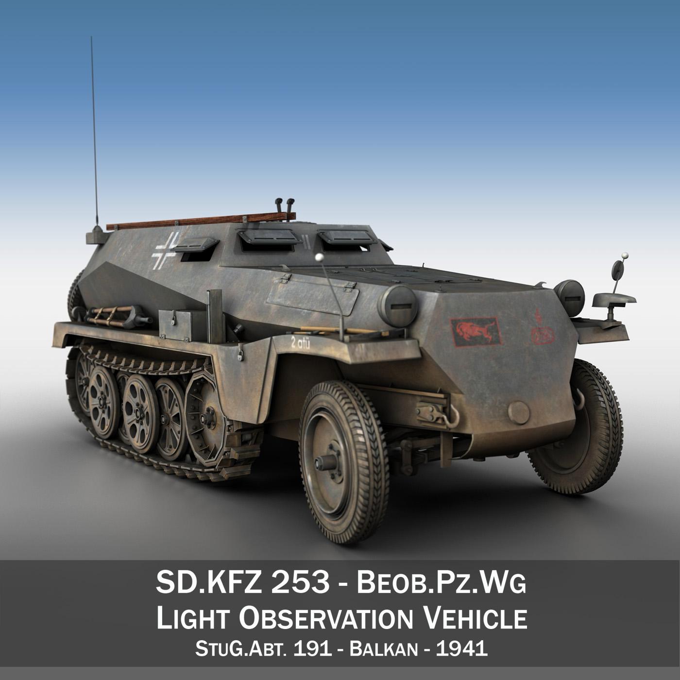 sd.kfz 253 – beob.pz.wg. – stug.abt.191 3d model 3ds c4d 3ds lwo lw lws obj 267228