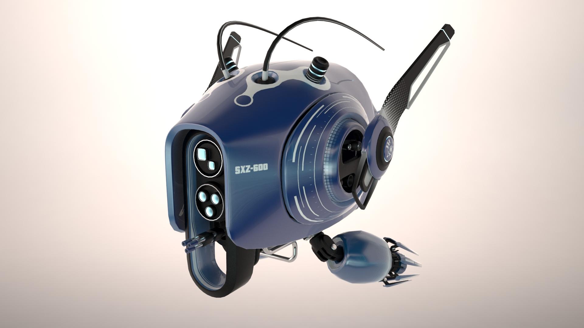 drone sxz600 3d modelo 3ds max fbx obj 267279