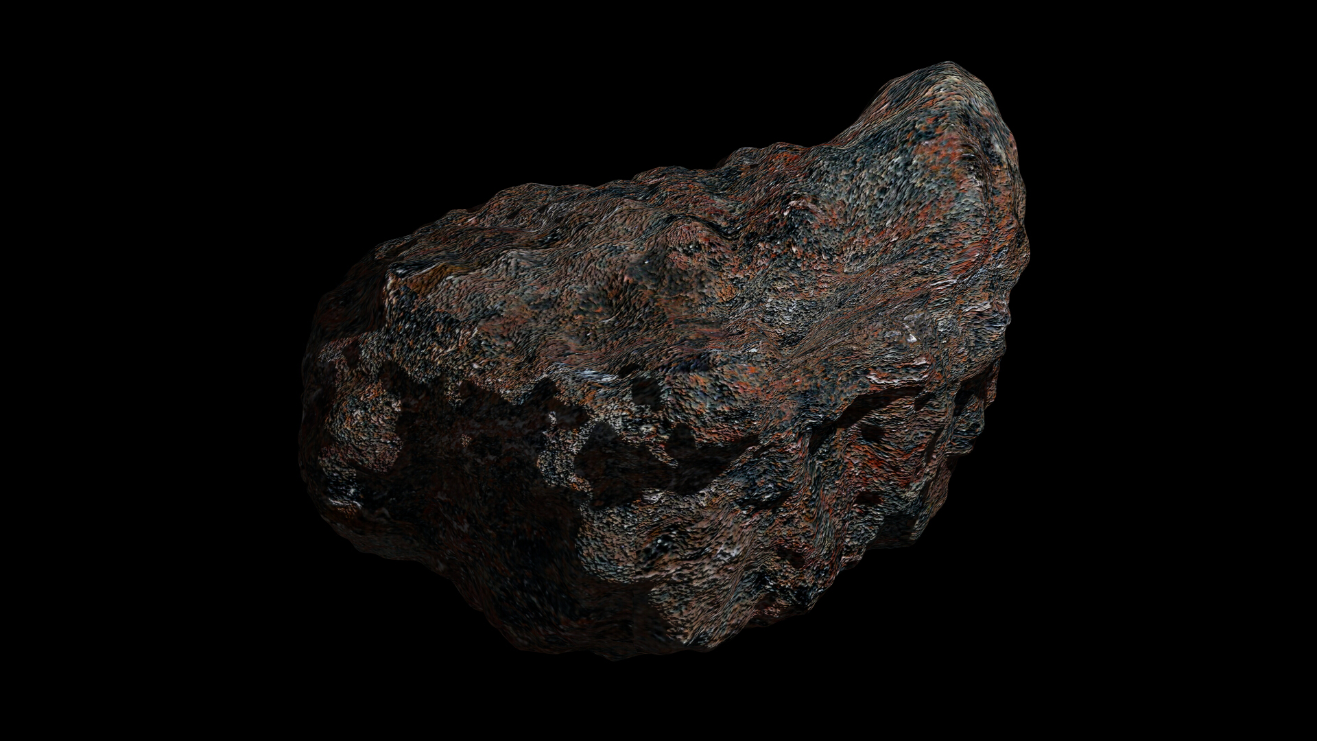 fantasy asteroid 3 3d model 3ds fbx dae obj 267323