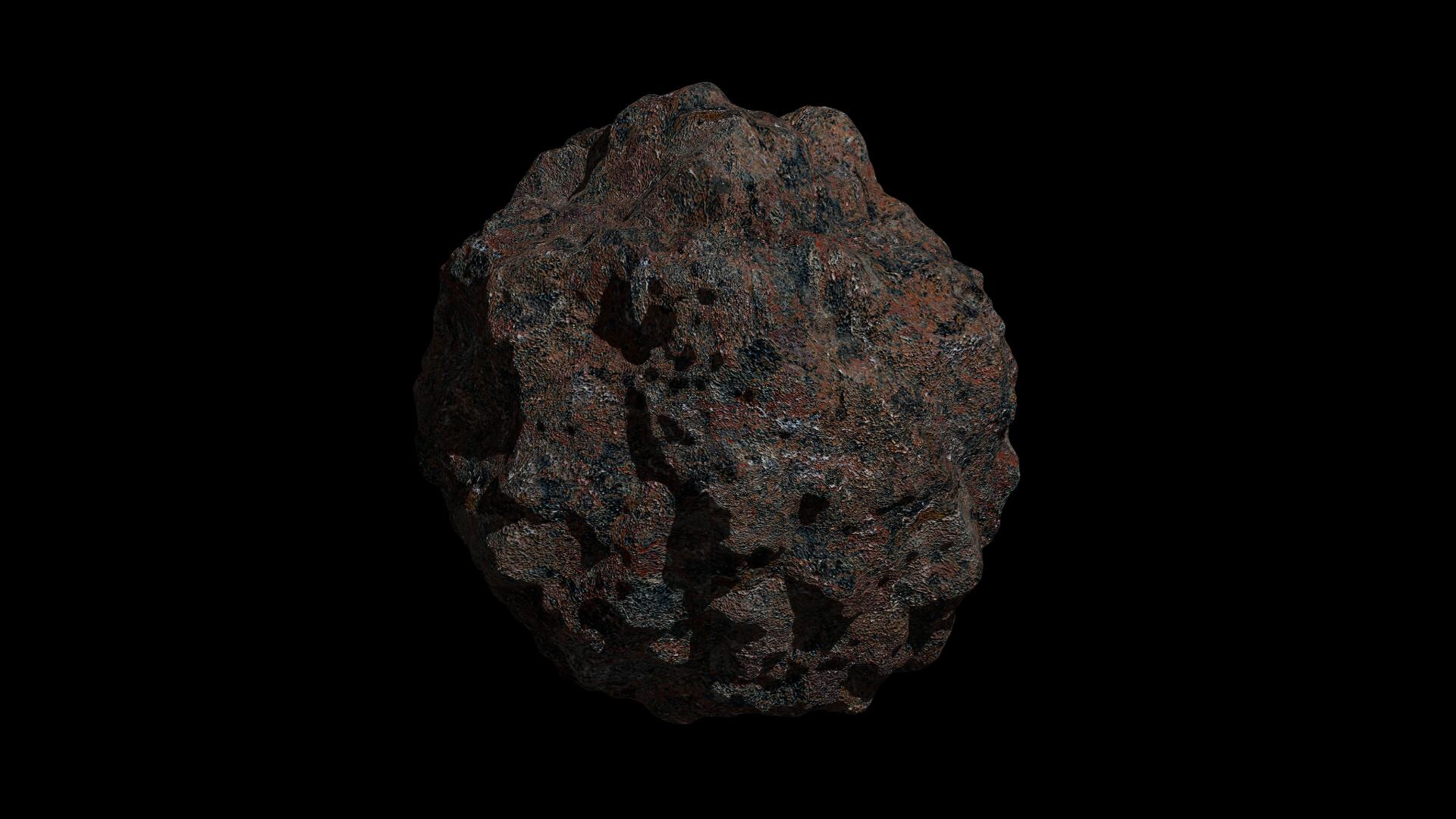 fantasy asteroid 3 3d model 3ds fbx dae obj 267324