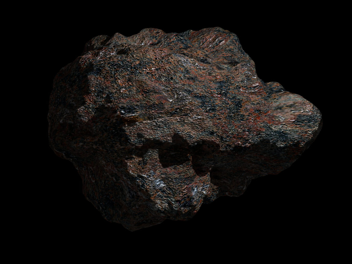 Fantasy Asteroid 3 3d model high poly render ready 3ds fbx dae obj