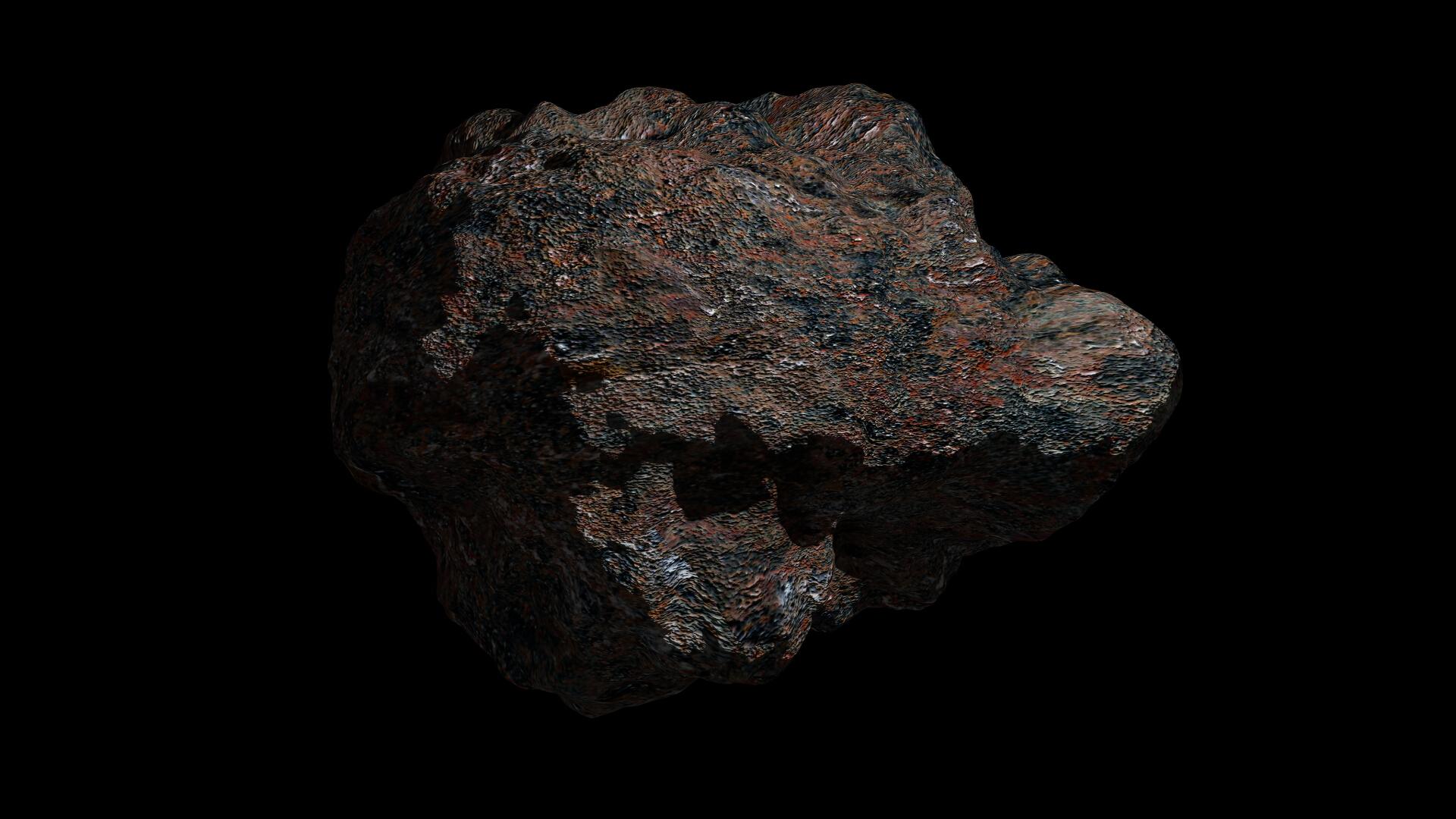 fantasy asteroid 3 3d model 3ds fbx dae obj 267325