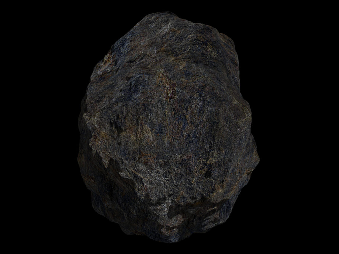 Fantasy Asteroid 4 3d model high poly render ready