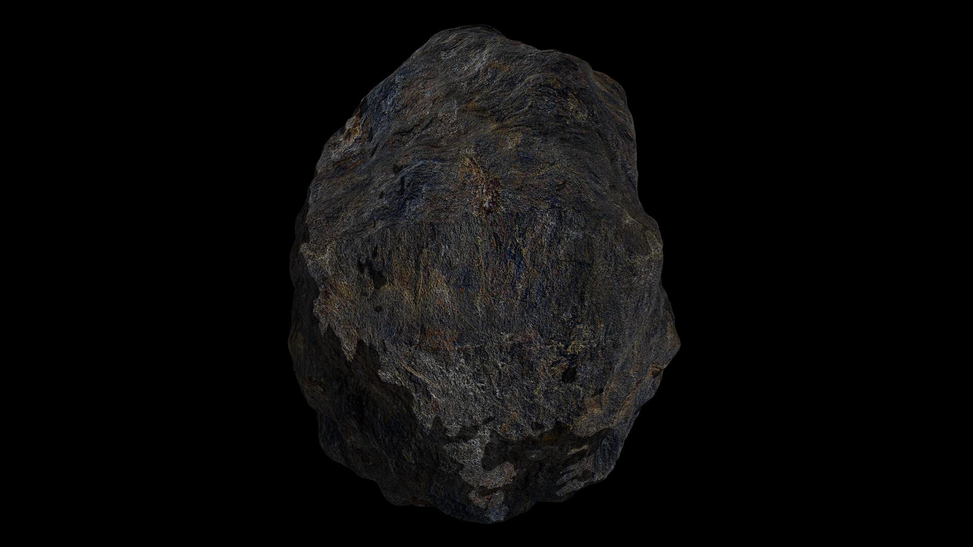 fantasy asteroid 4 3d model 3ds blend dae fbx obj 267357