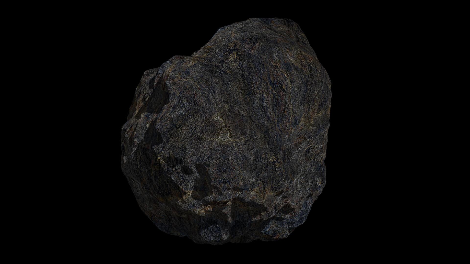 fantasy asteroid 4 3d model 3ds blend dae fbx obj 267358