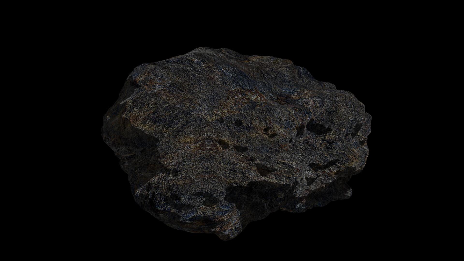 fantasy asteroid 4 3d model 3ds blend dae fbx obj 267362