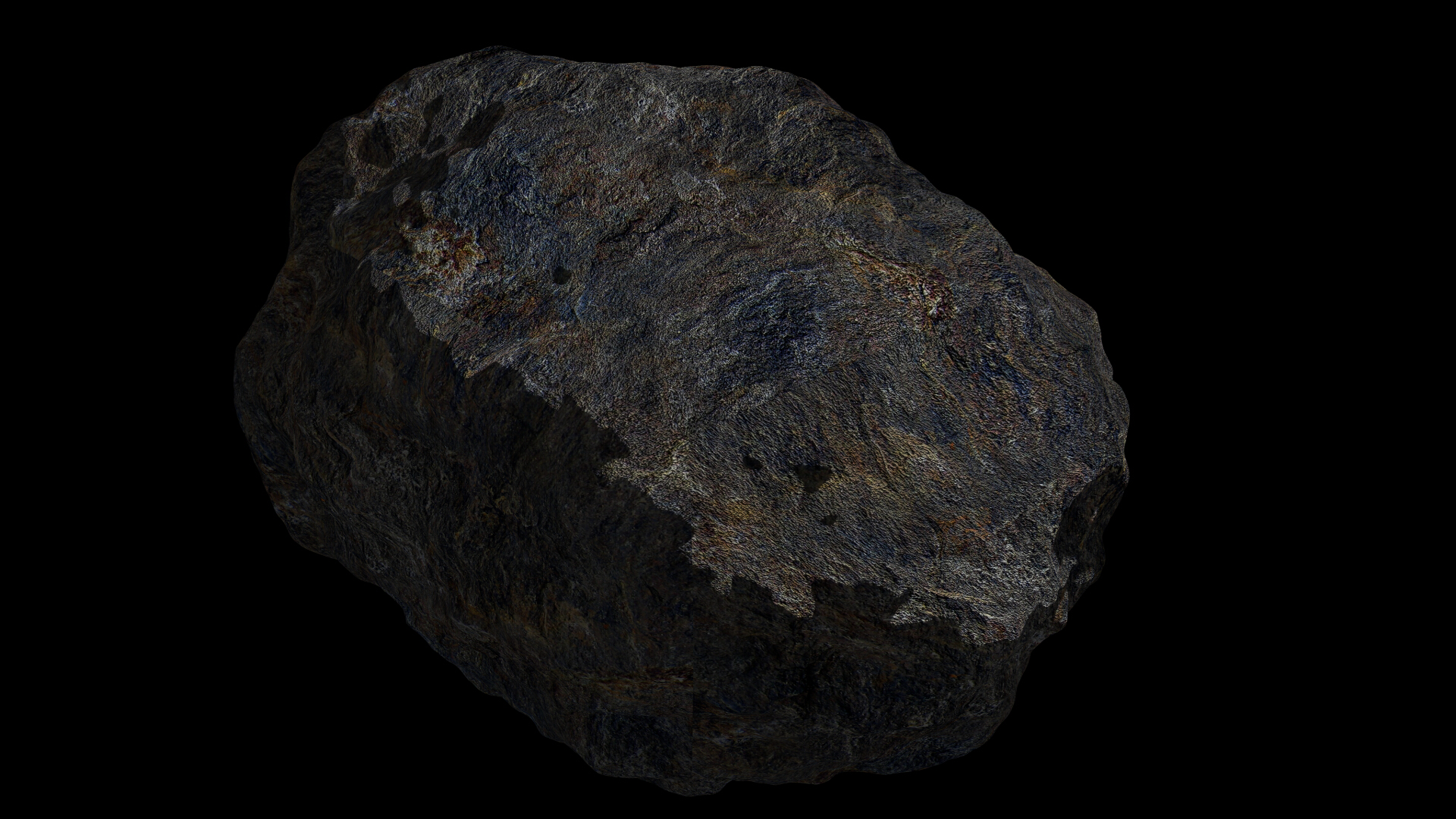 fantasy asteroid 4 3d model 3ds blend dae fbx obj 267363