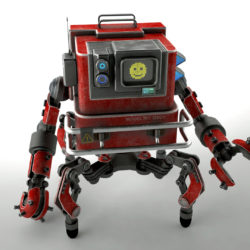 Robot GSG1 3d model low poly 3ds max fbx obj