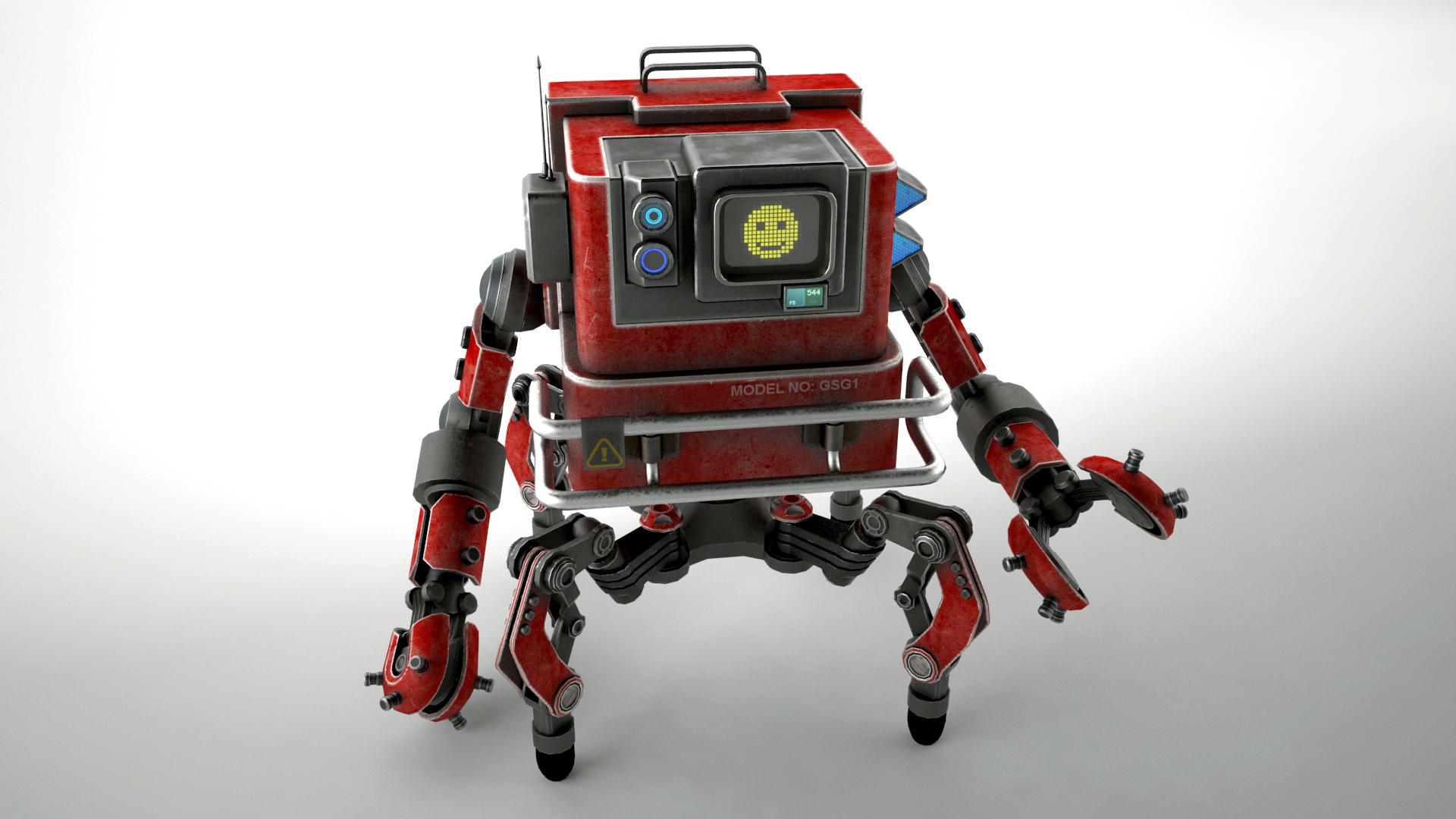 Robot GSG1 3d model 3ds max fbx obj 267411