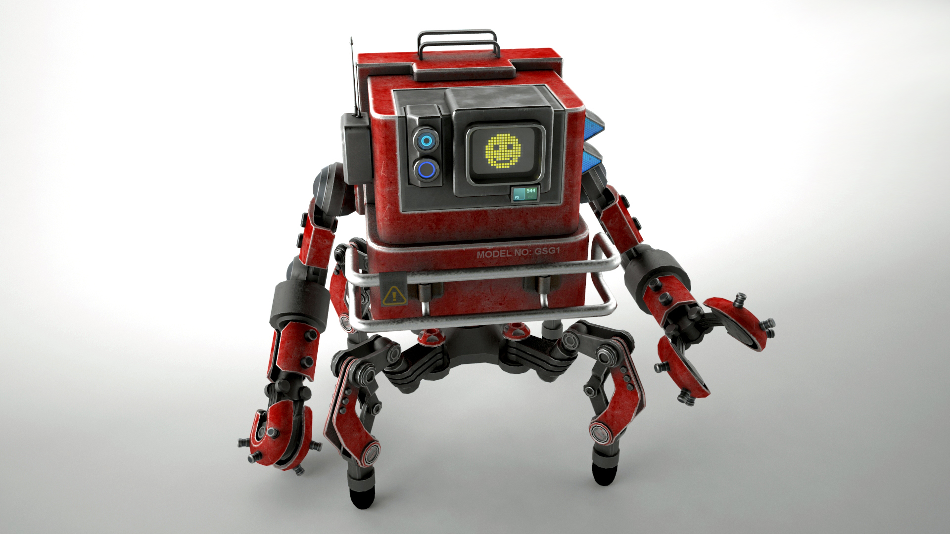 robot gsg1 3d model 3ds max fbx obj 267411