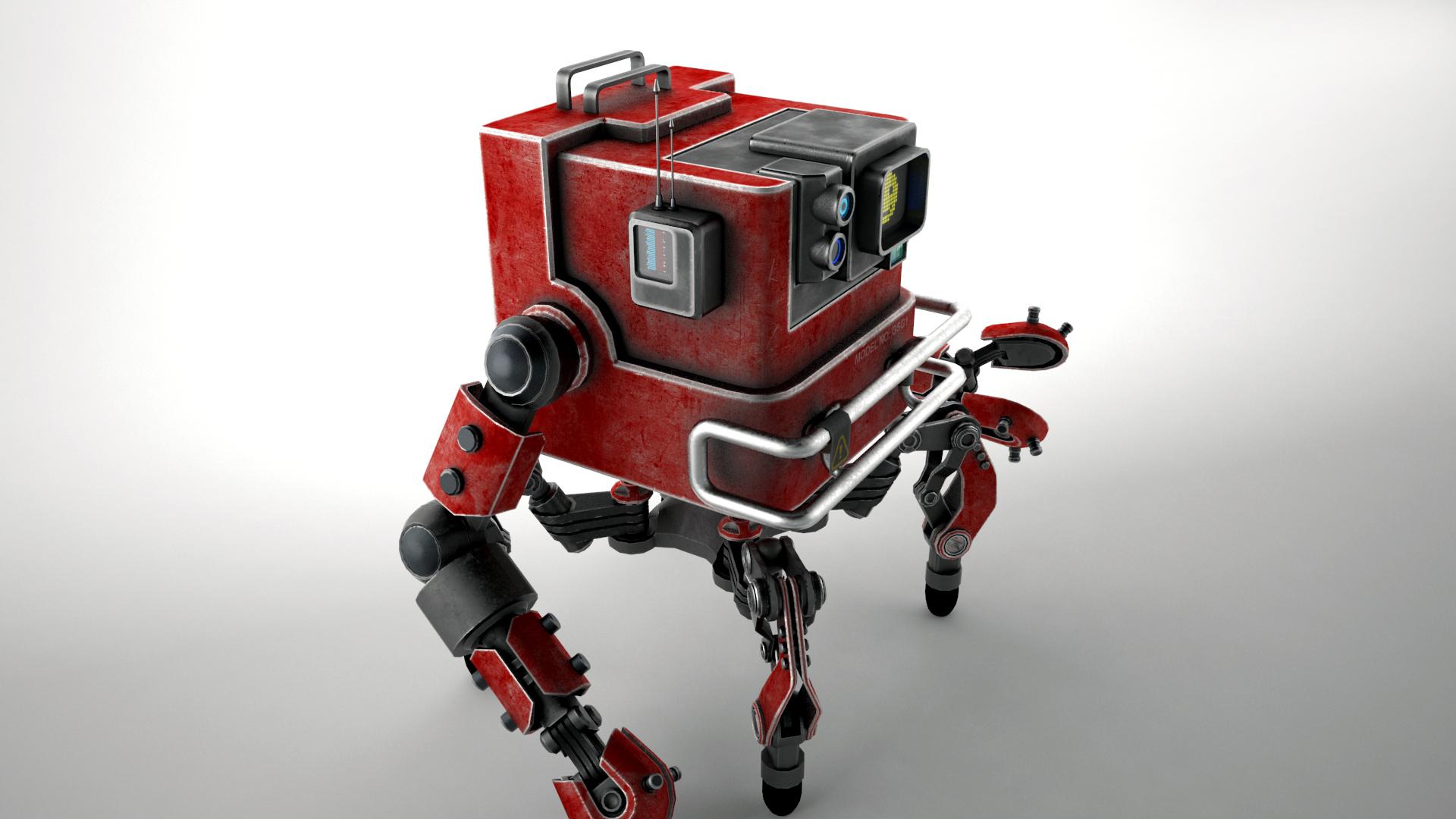 robot gsg1 3d model 3ds max fbx obj 267412