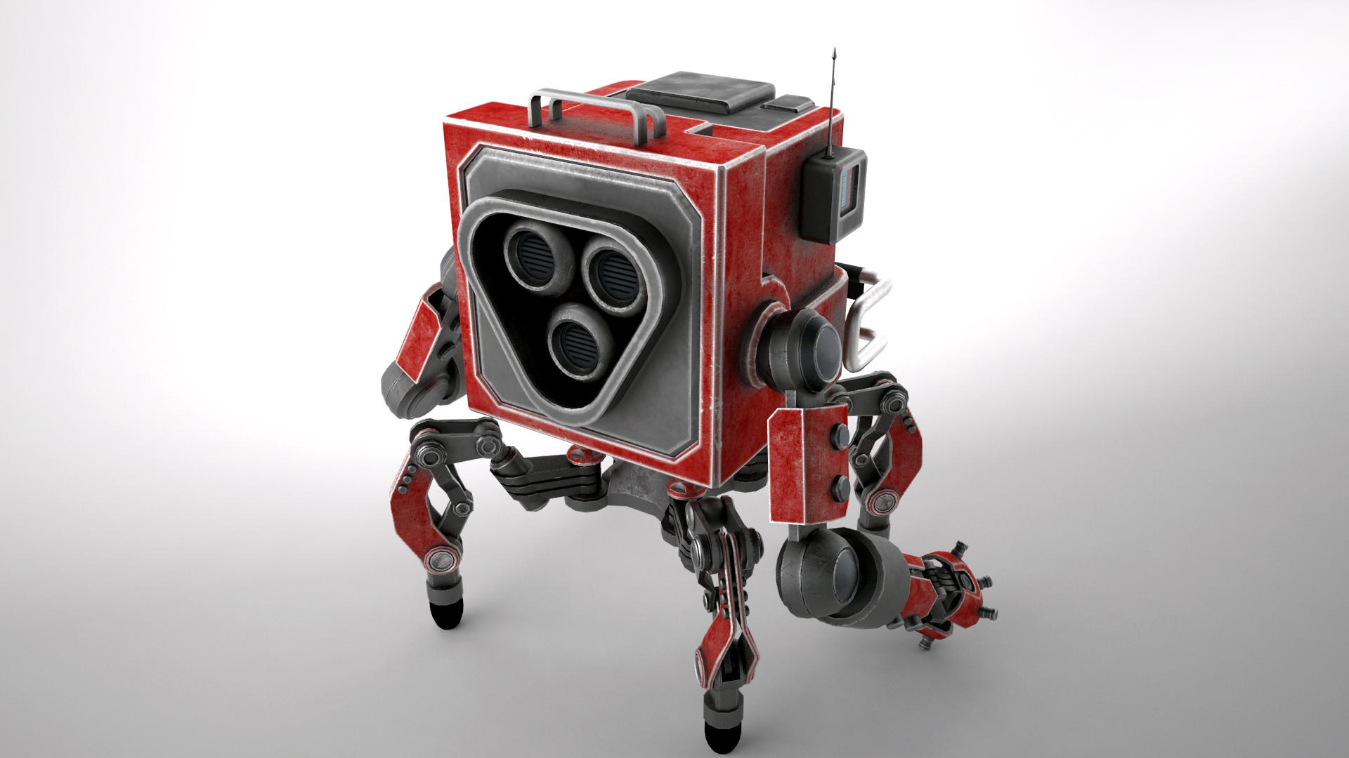 robot gsg1 3d model 3ds max fbx obj 267413