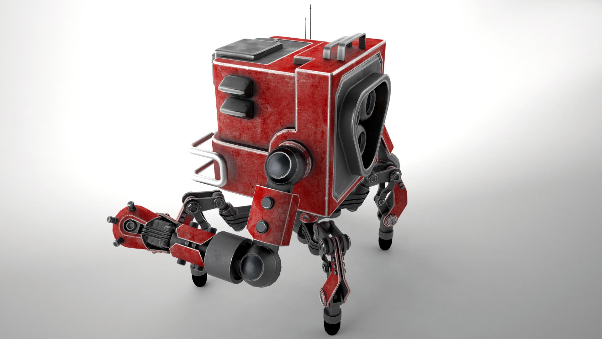 robot gsg1 3d model 3ds max fbx obj 267414
