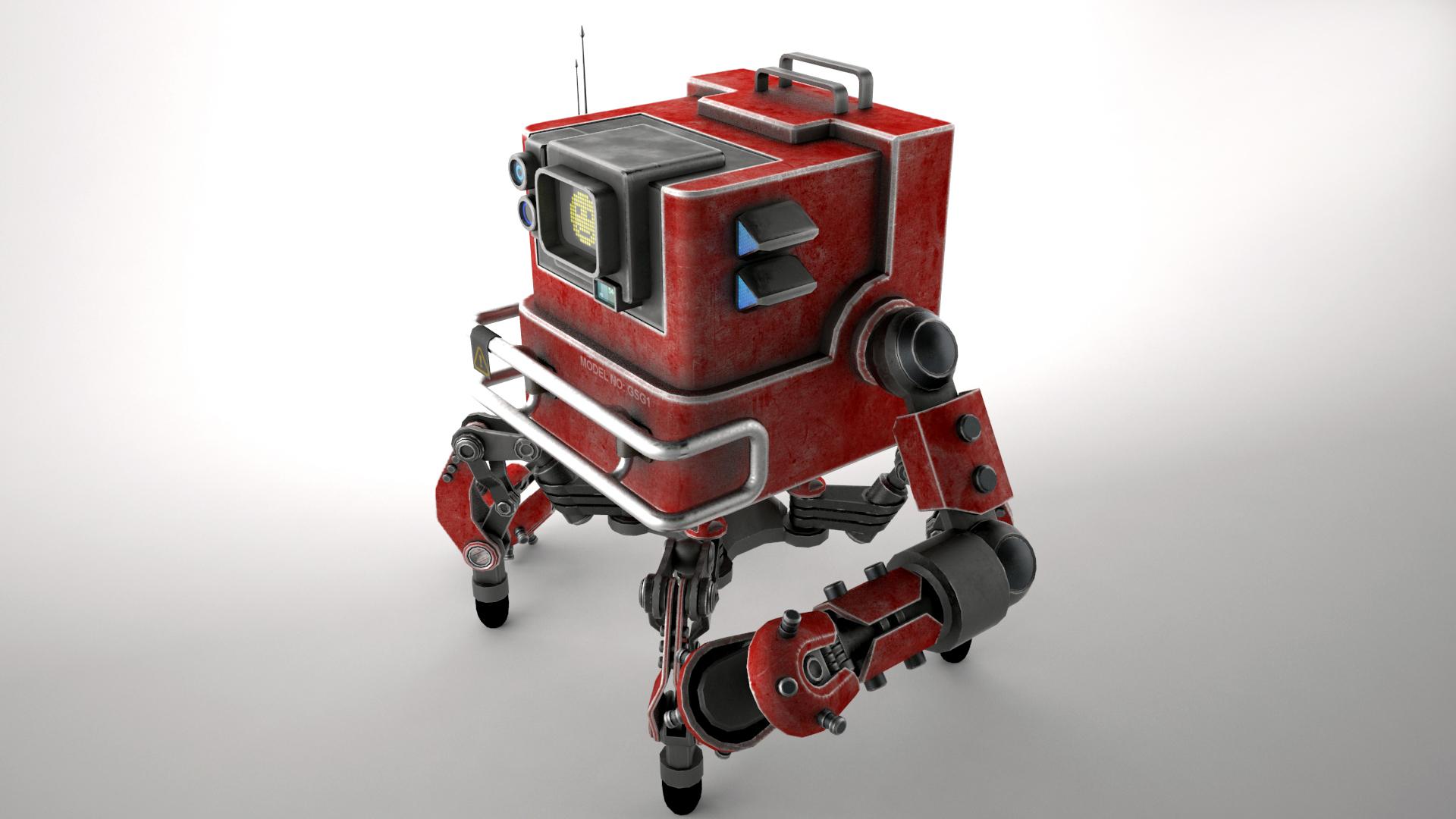 robot gsg1 3d model 3ds max fbx obj 267415