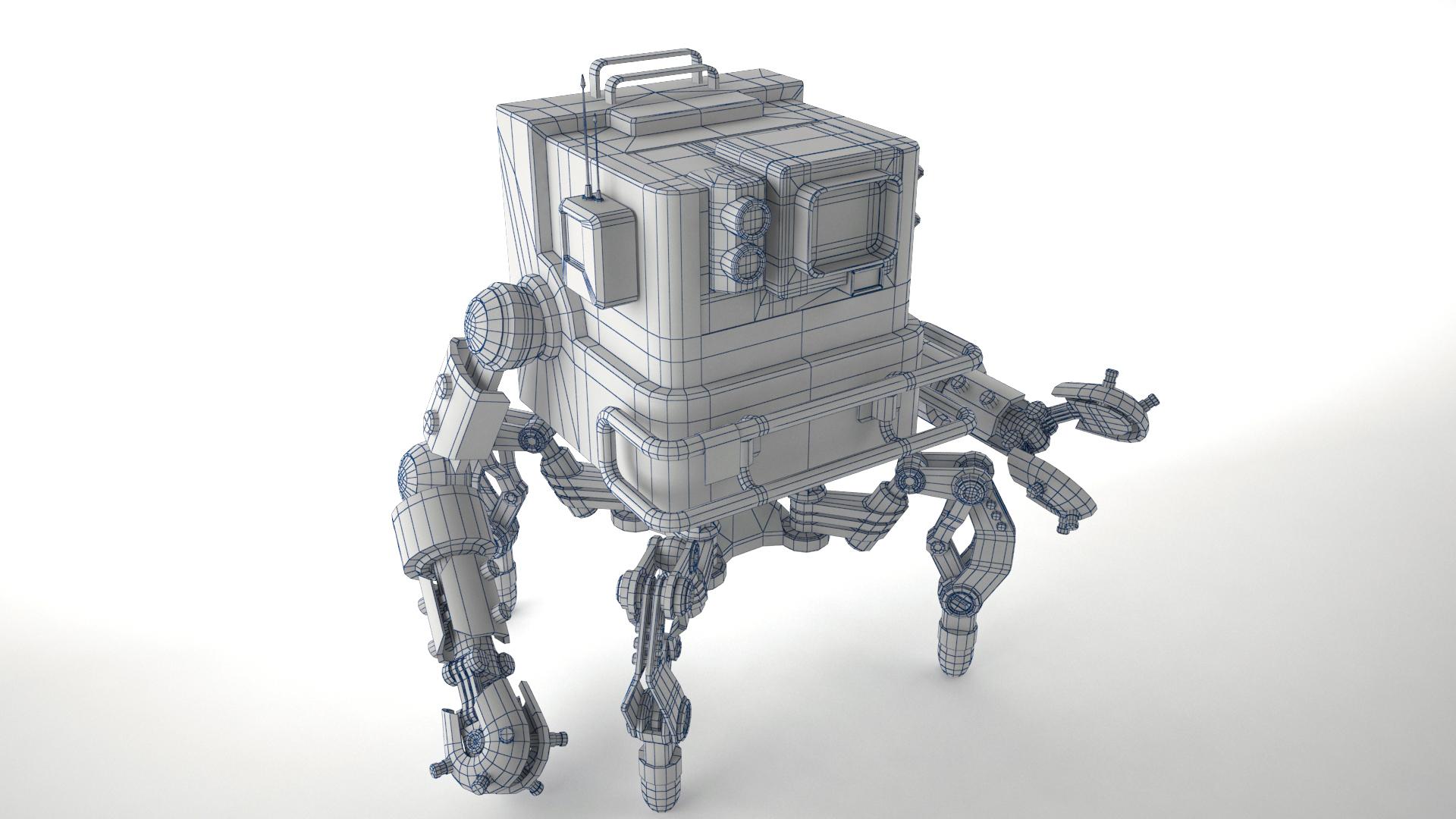 robot gsg1 3d model 3ds max fbx obj 267416