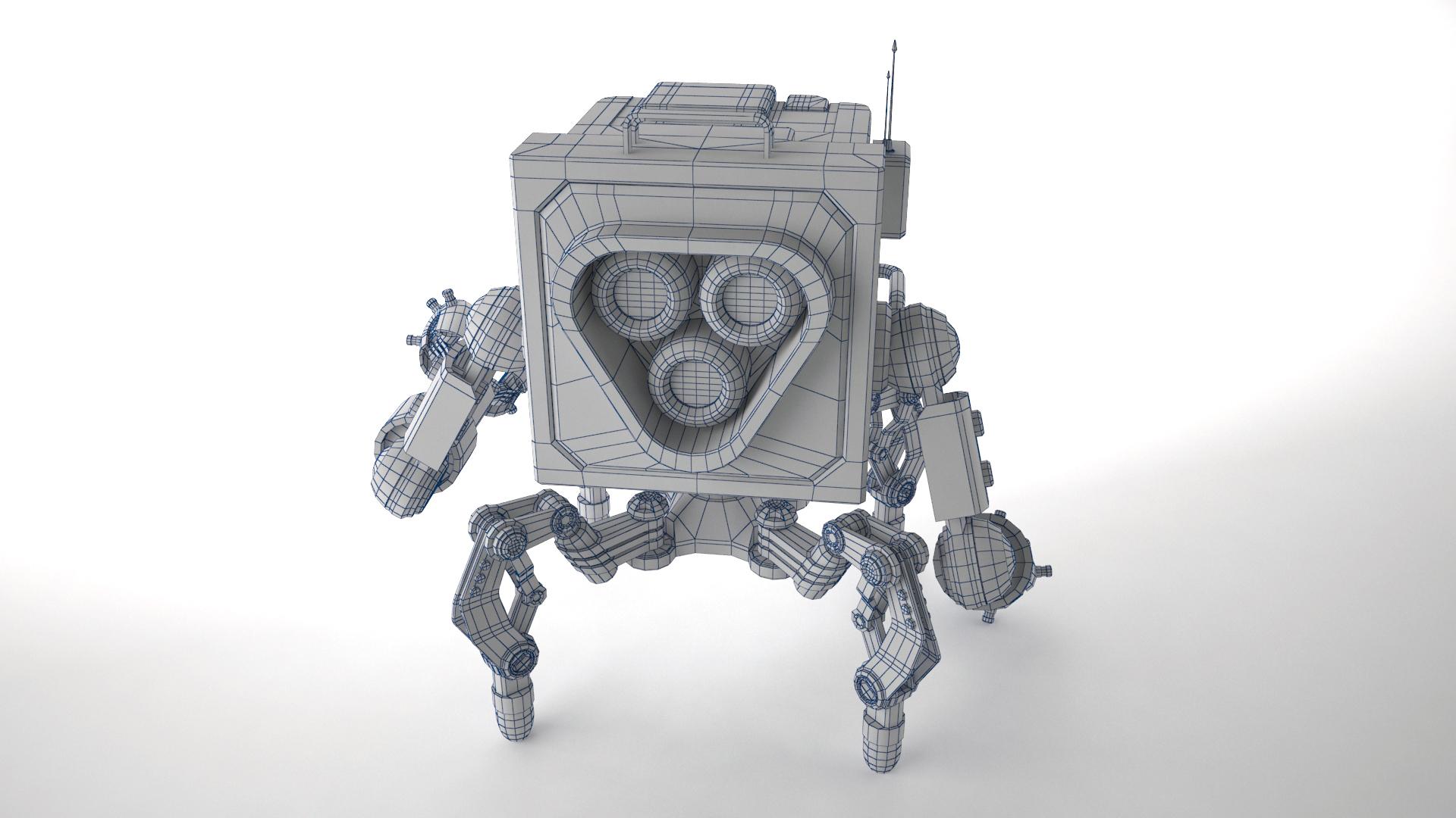 robot gsg1 3d model 3ds max fbx obj 267417