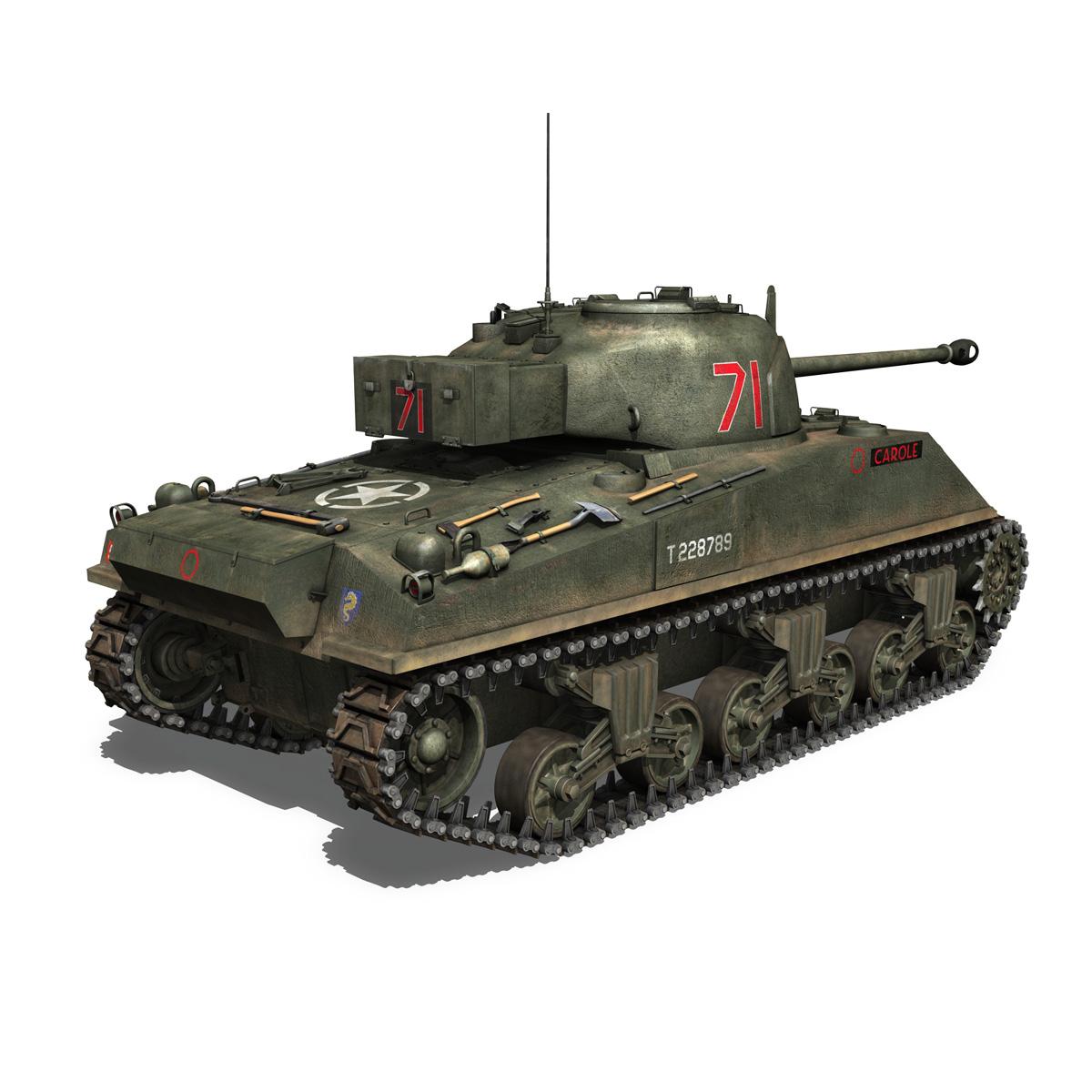 sherman mk vc firefly - karols 3d modelis 3ds fbx c4d lwo obj 267431