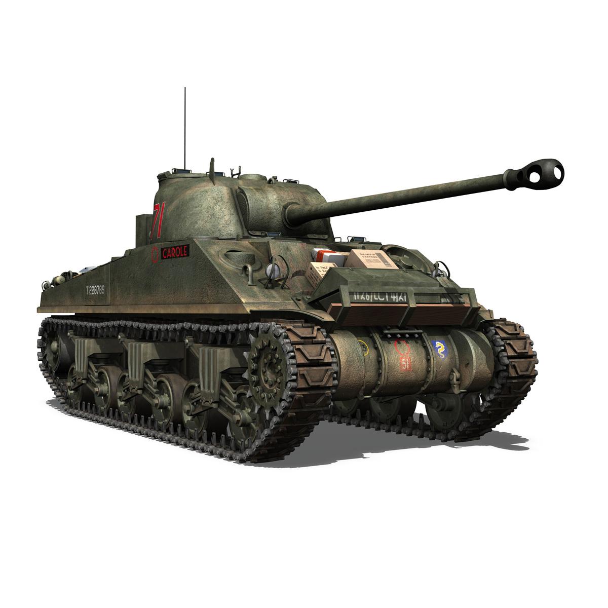 sherman mk vc firefly - karols 3d modelis 3ds fbx c4d lwo obj 267433