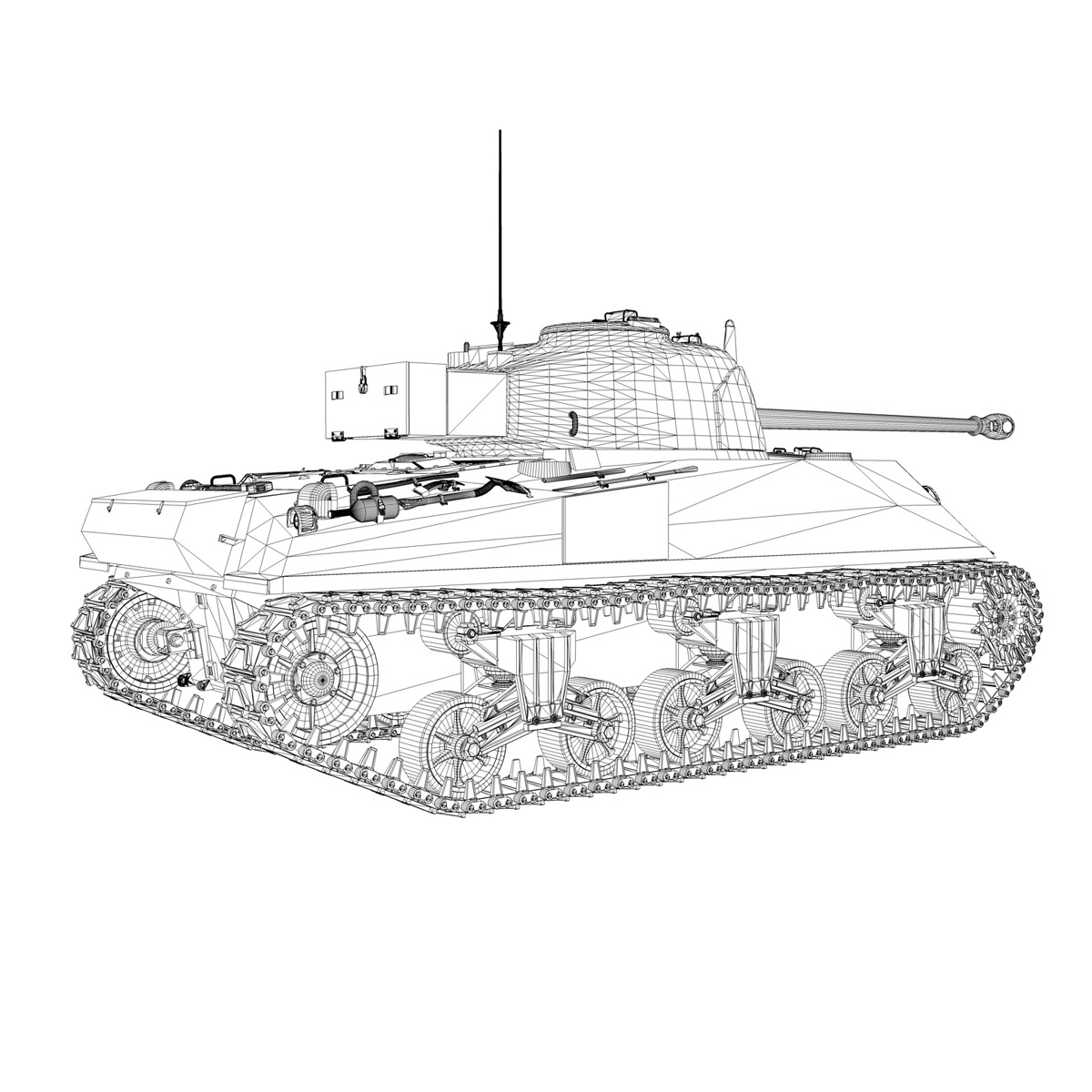 sherman mk vc firefly - karols 3d modelis 3ds fbx c4d lwo obj 267438