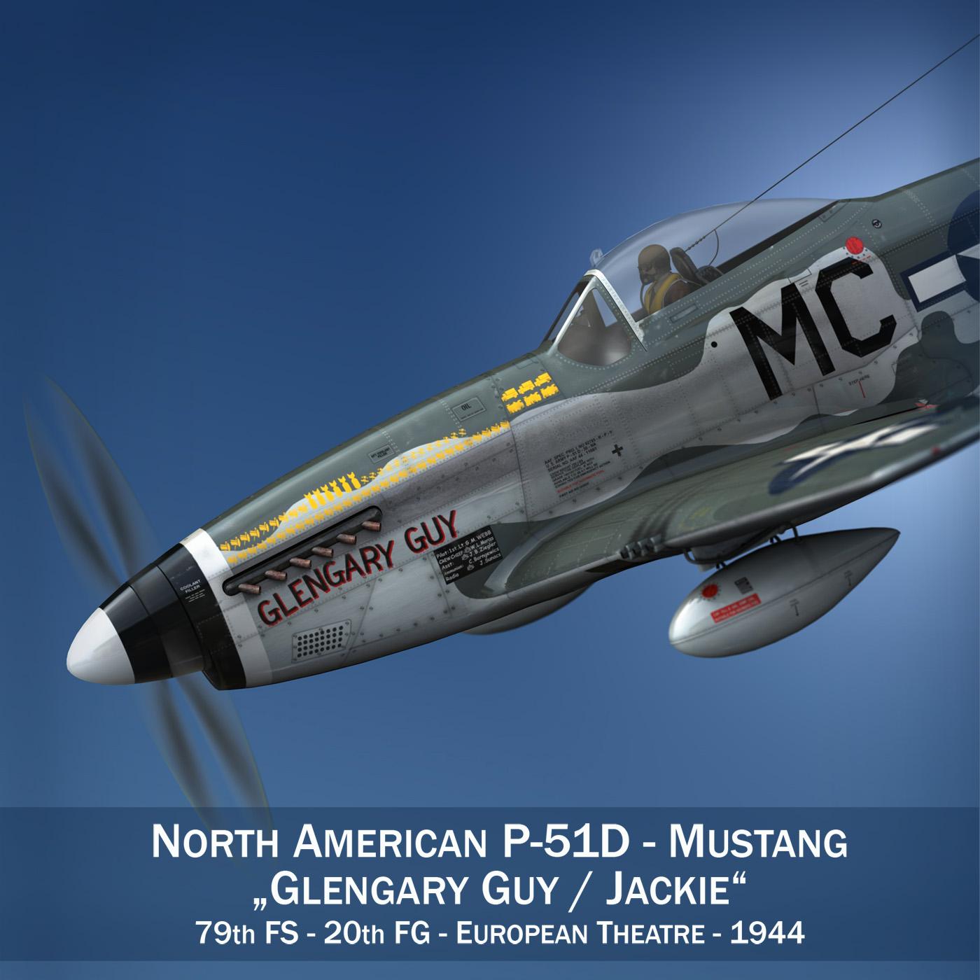north american p-51d mustang – glengary guy 3d model fbx c4d lwo obj 267515