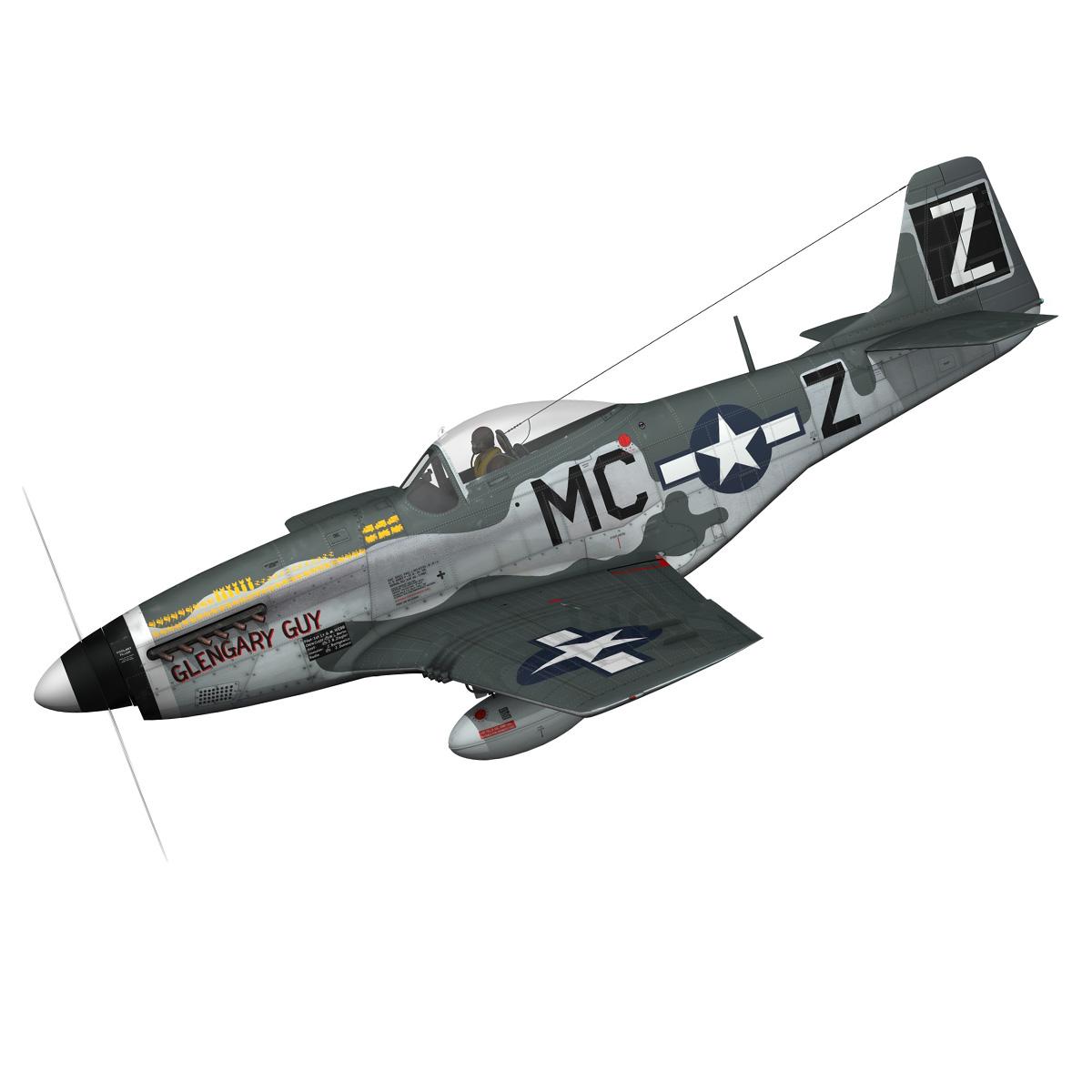 north american p-51d mustang – glengary guy 3d model fbx c4d lwo obj 267516