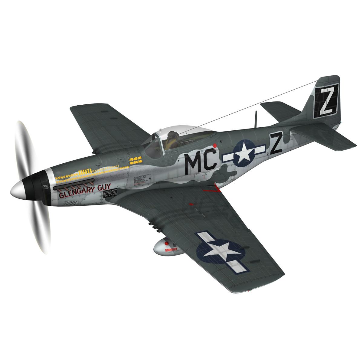 north american p-51d mustang – glengary guy 3d model fbx c4d lwo obj 267517