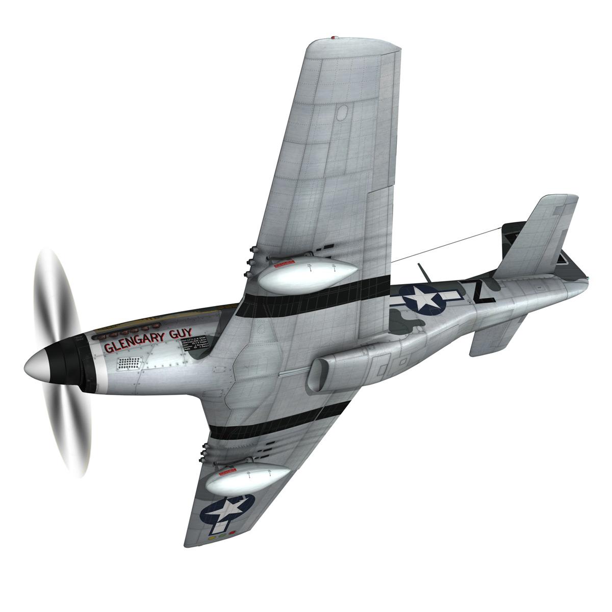 north american p-51d mustang – glengary guy 3d model fbx c4d lwo obj 267518