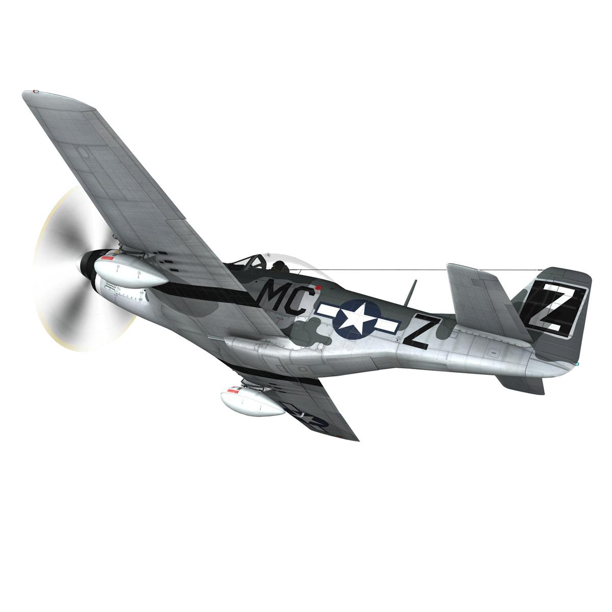 north american p-51d mustang – glengary guy 3d model fbx c4d lwo obj 267519