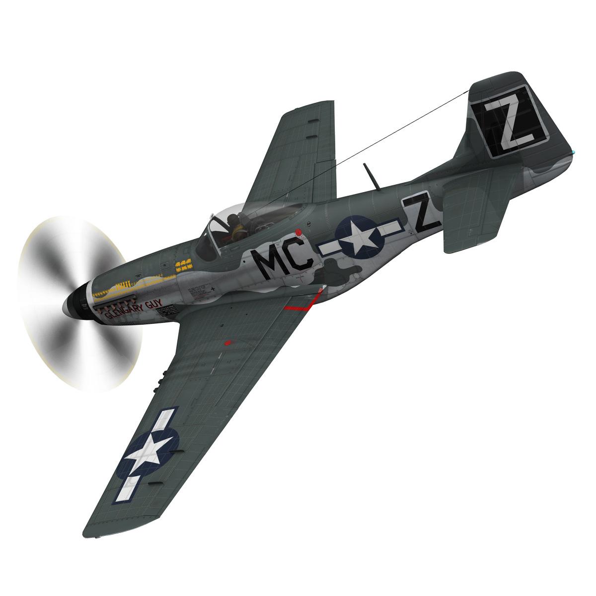 north american p-51d mustang – glengary guy 3d model fbx c4d lwo obj 267520