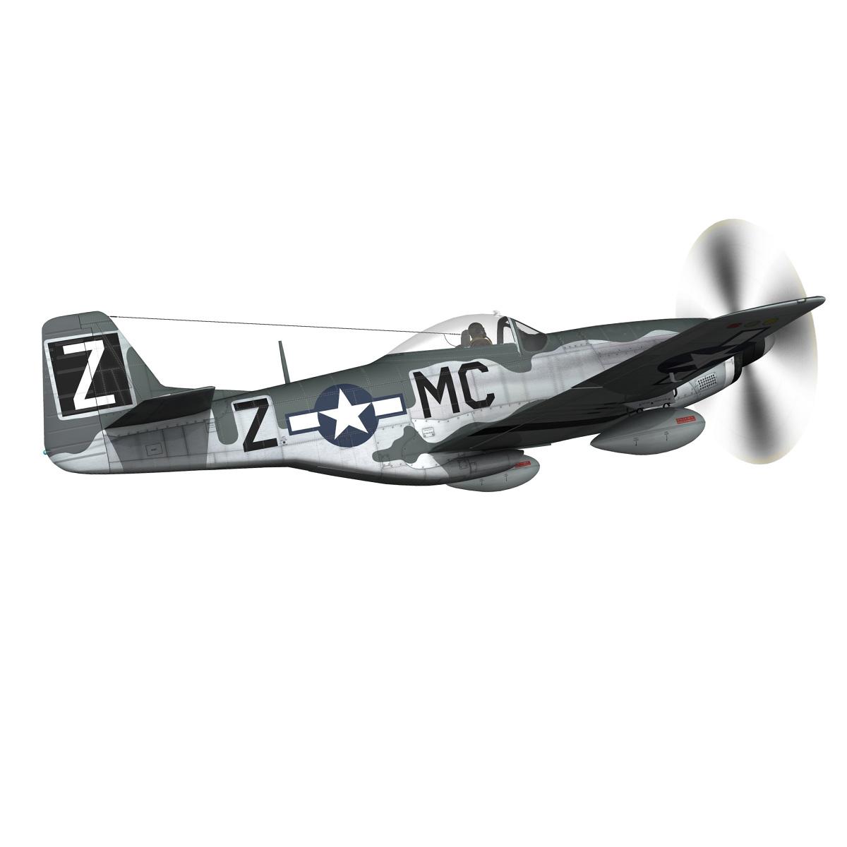 north american p-51d mustang – glengary guy 3d model fbx c4d lwo obj 267521