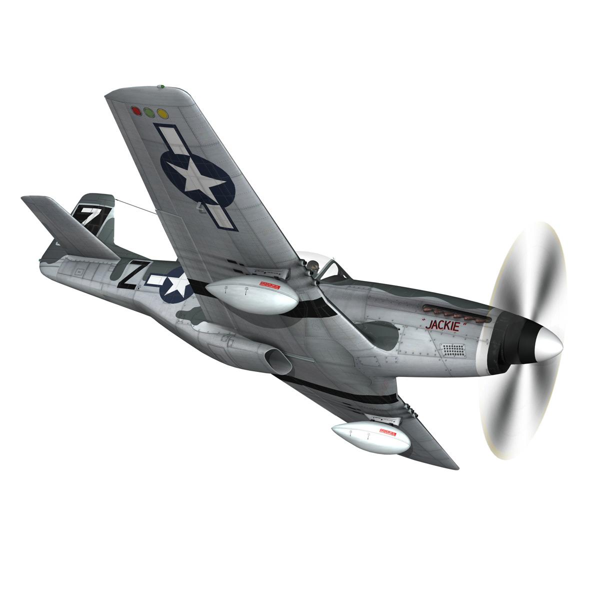 north american p-51d mustang – glengary guy 3d model fbx c4d lwo obj 267522