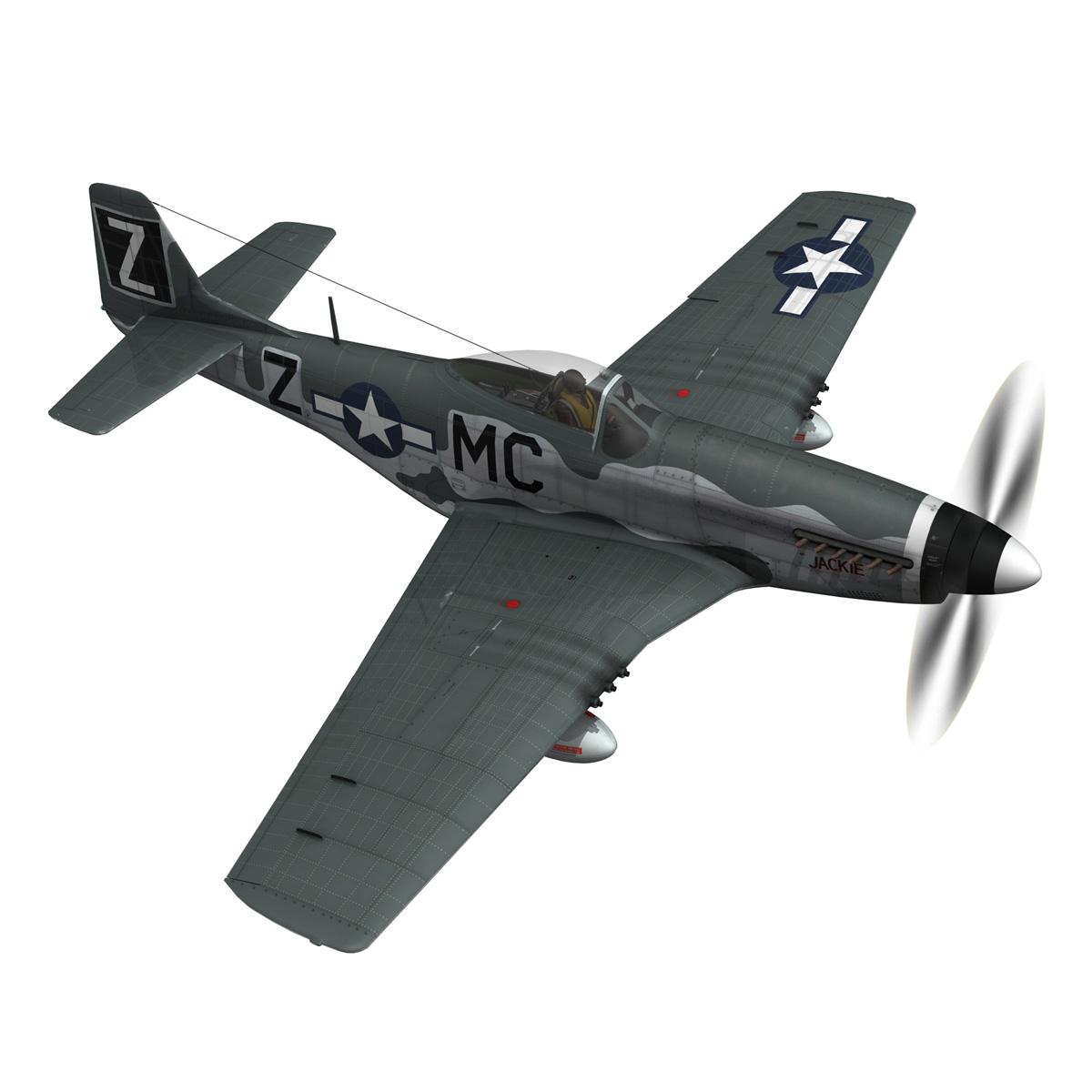 north american p-51d mustang – glengary guy 3d model fbx c4d lwo obj 267523