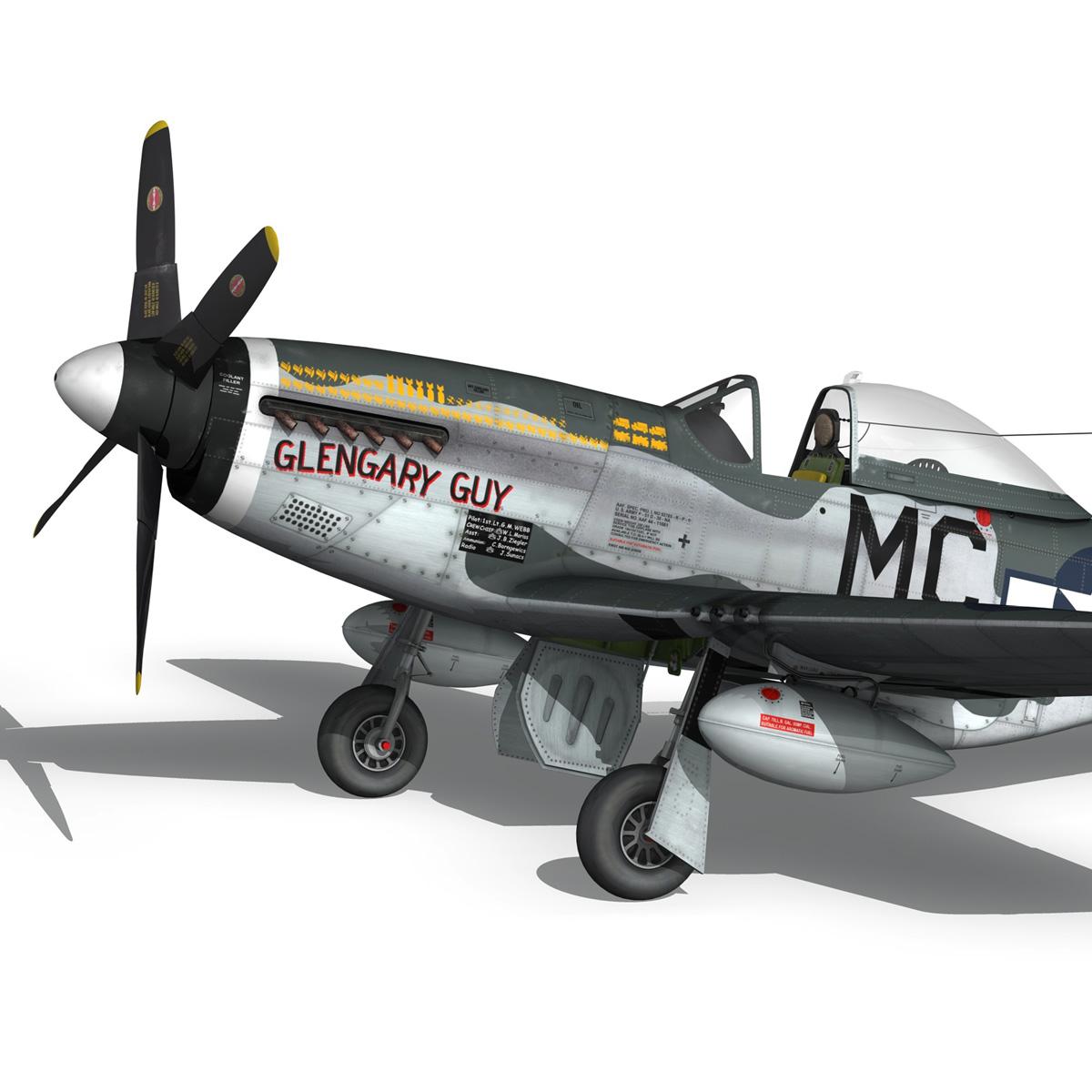 north american p-51d mustang – glengary guy 3d model fbx c4d lwo obj 267524