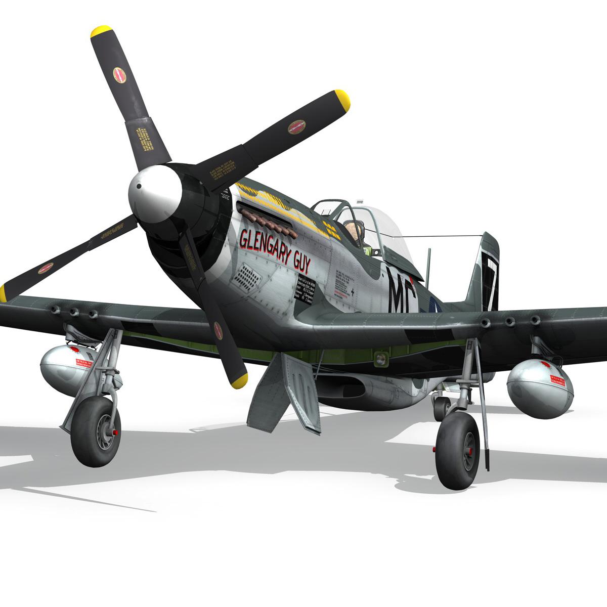 north american p-51d mustang – glengary guy 3d model fbx c4d lwo obj 267525