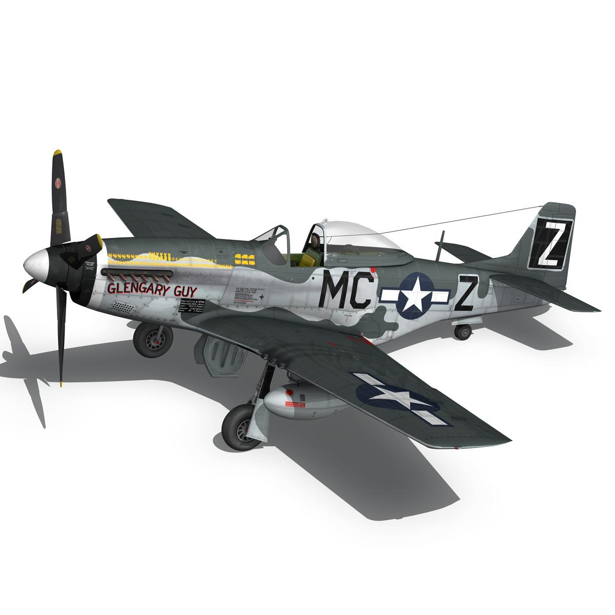 north american p-51d mustang – glengary guy 3d model fbx c4d lwo obj 267526