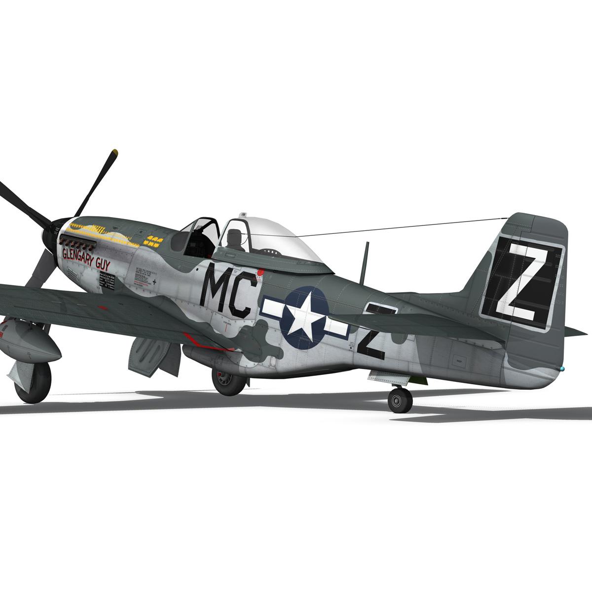 north american p-51d mustang – glengary guy 3d model fbx c4d lwo obj 267527