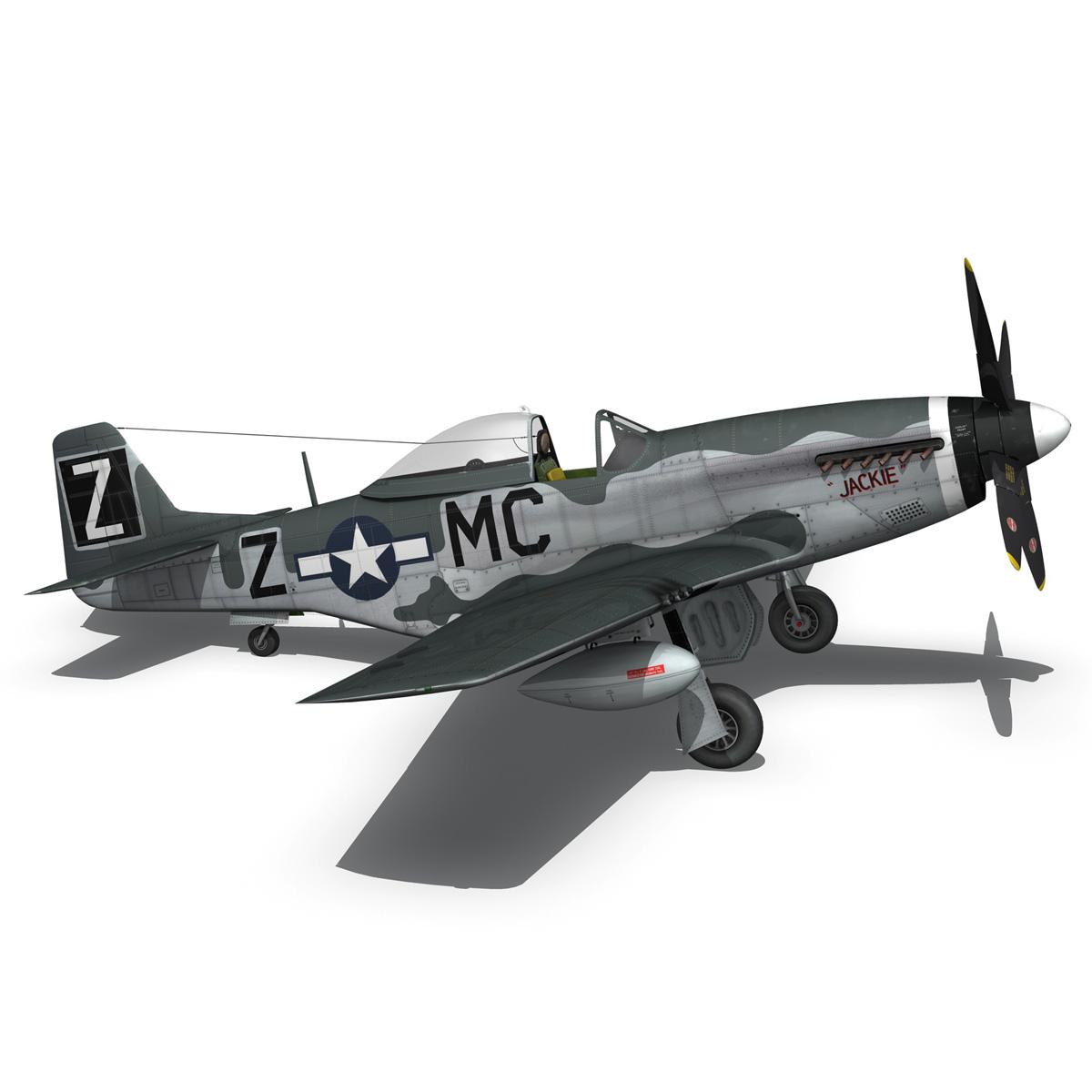 north american p-51d mustang – glengary guy 3d model fbx c4d lwo obj 267528